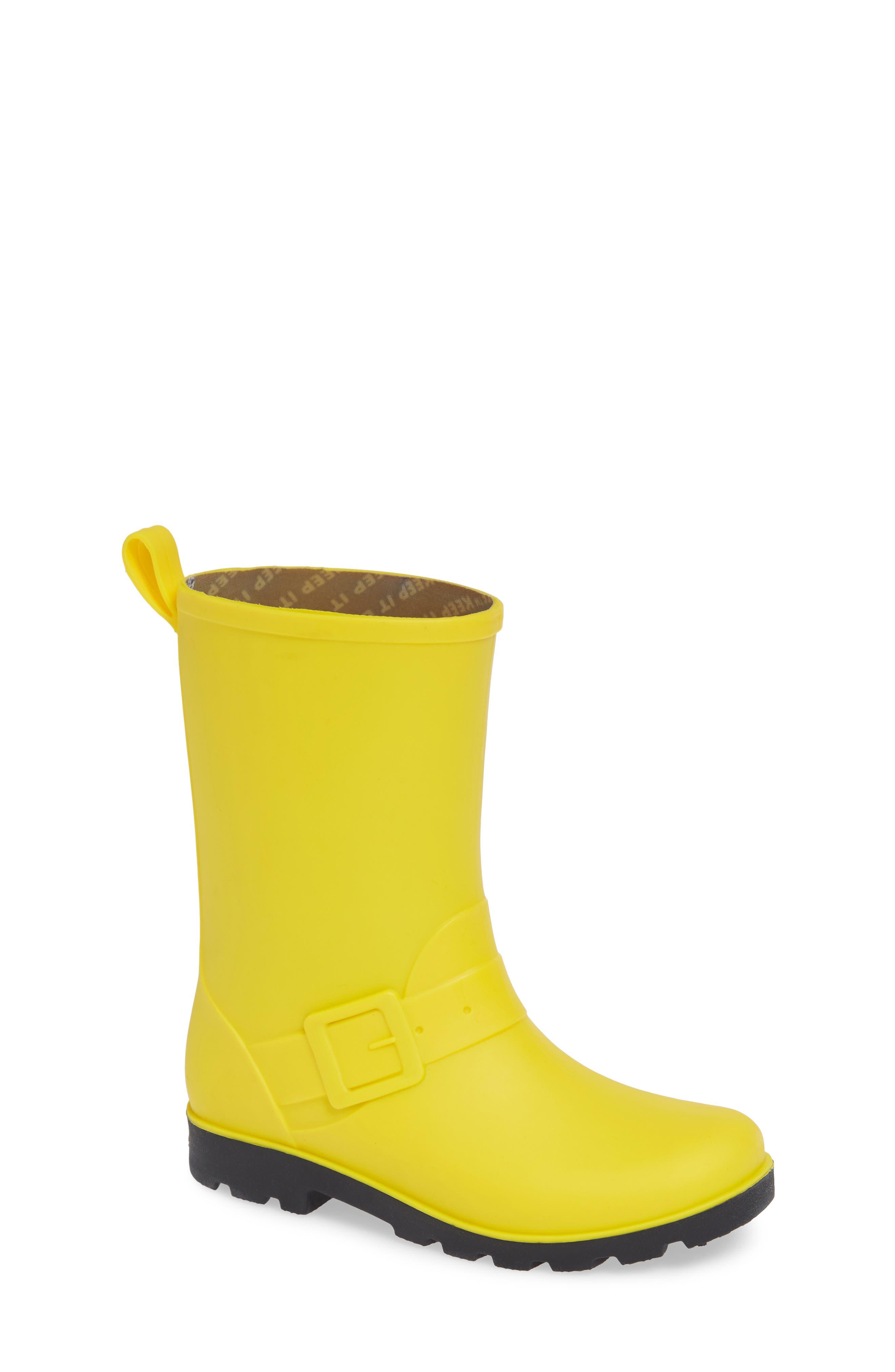 Native Barnett Rain Boot,                             Main thumbnail 1, color,                             CRAYON YELLOW/ JIFFY BLACK