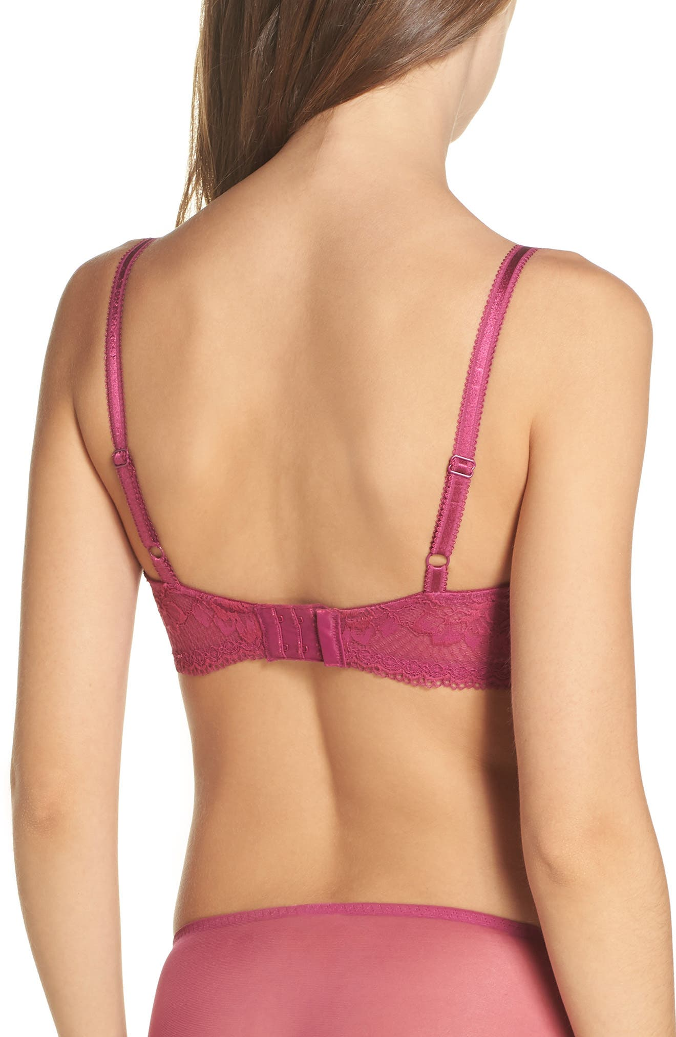 Lace to Love Underwire Bra,                             Alternate thumbnail 2, color,                             BOYSENBERRY