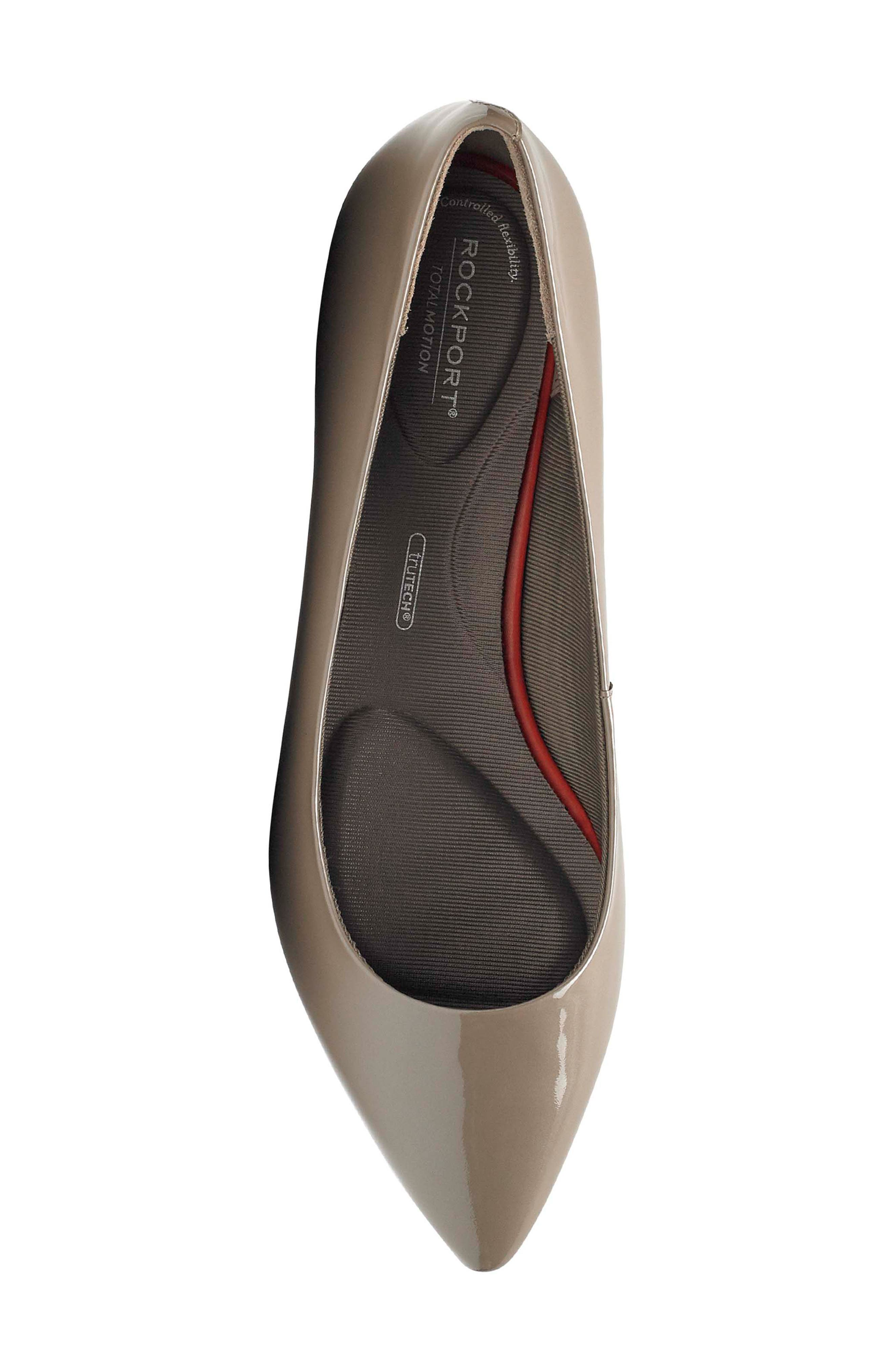 'Total Motion - Adelyn' Ballet Flat,                             Alternate thumbnail 5, color,                             TAUPE GREY PEARL PATENT