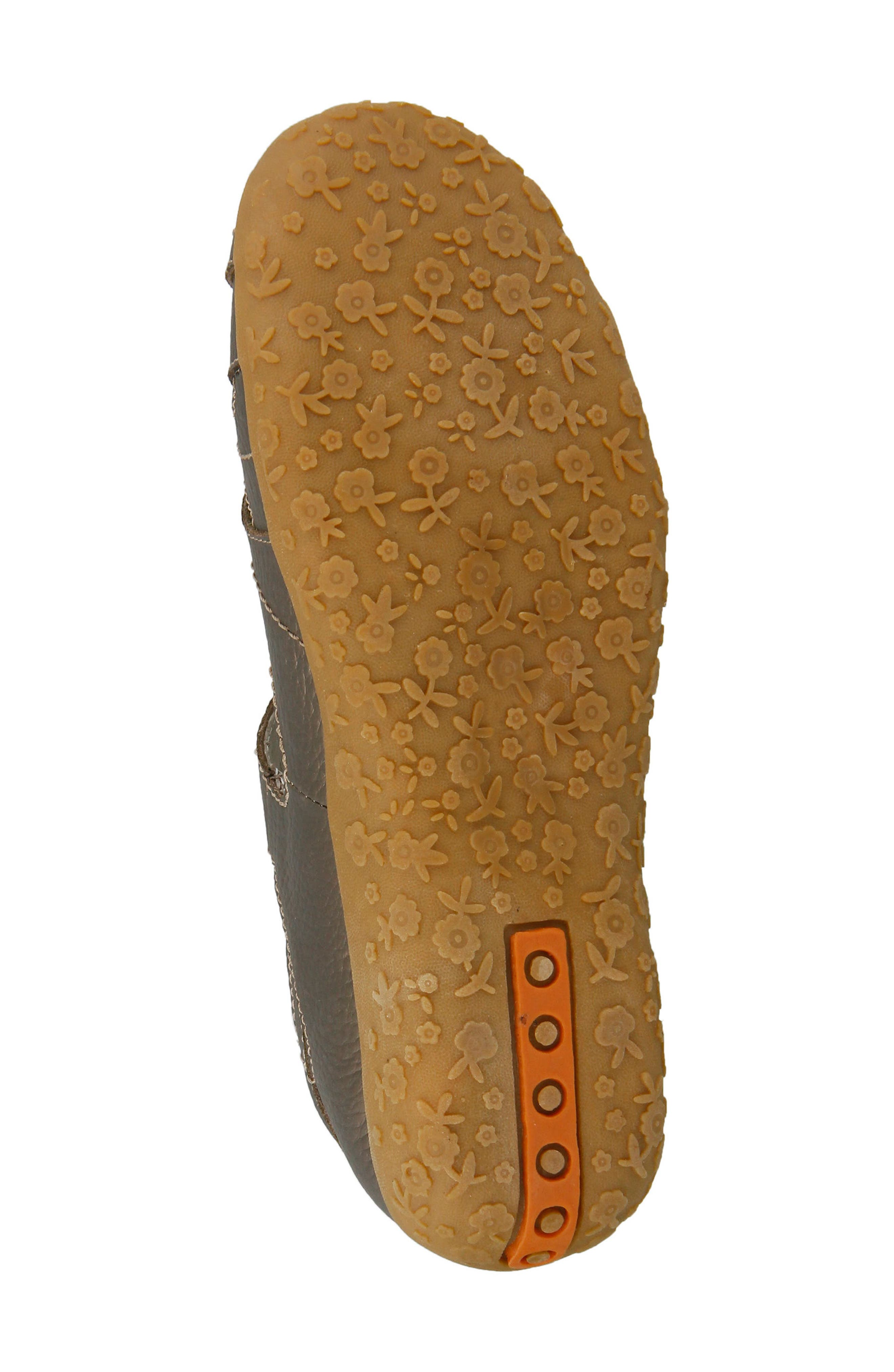 SPRING STEP,                             Hearts Flat,                             Alternate thumbnail 5, color,                             BRONZE LEATHER