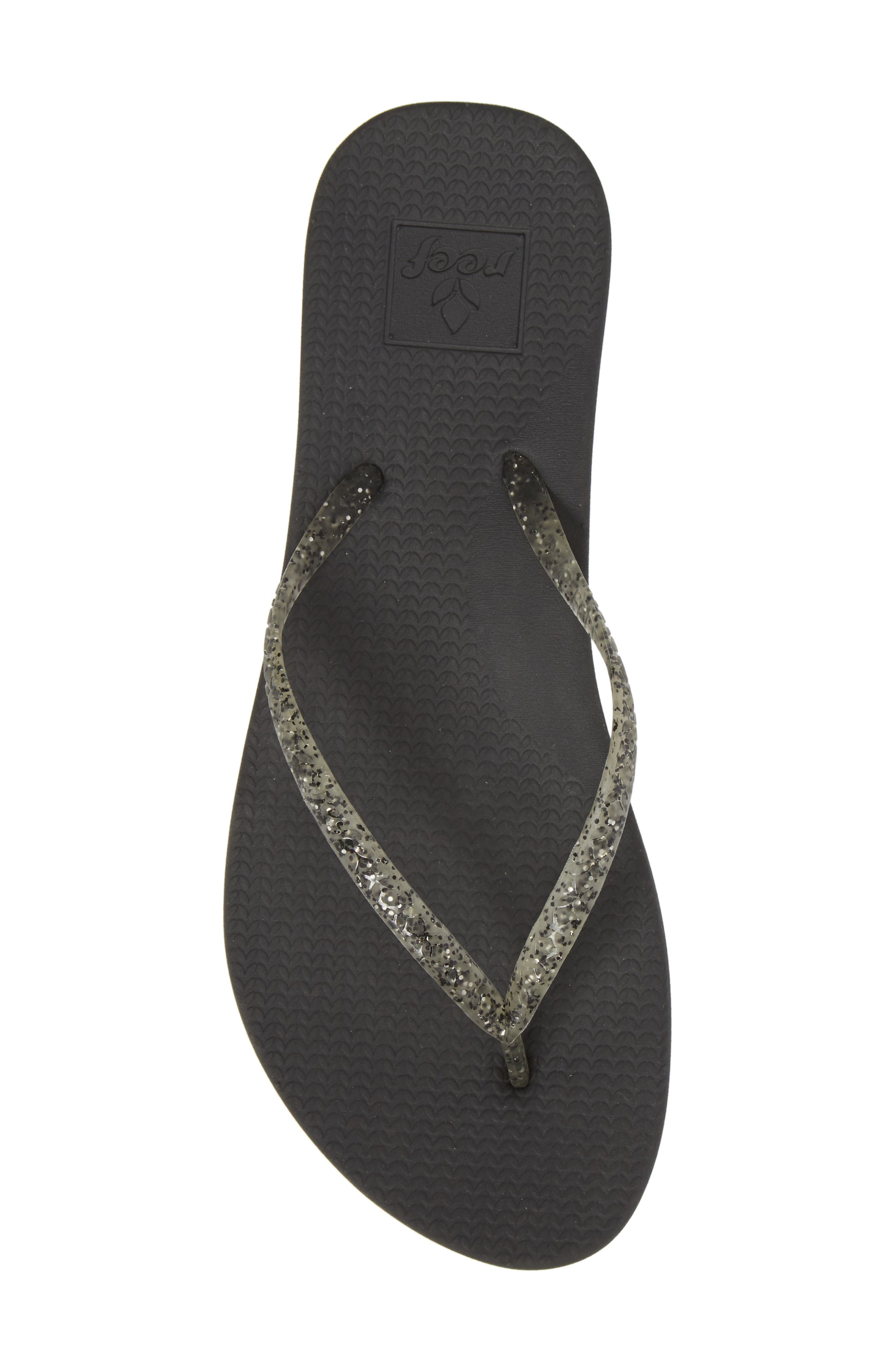 Lux Shimmer Flip Flop,                             Alternate thumbnail 5, color,                             001