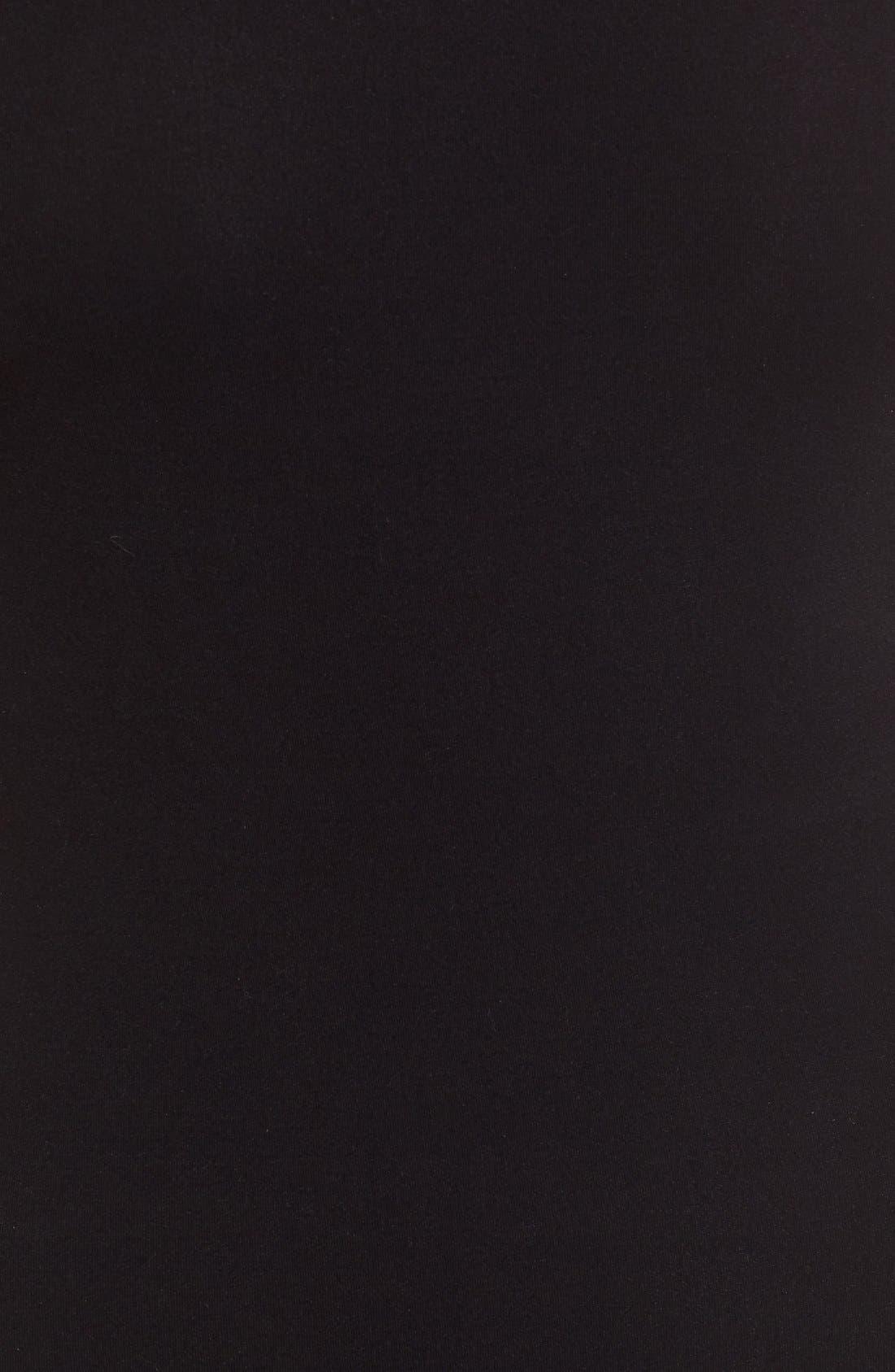 'Ballet Body' Sleeveless Thong Bodysuit,                             Alternate thumbnail 5, color,                             BLACK