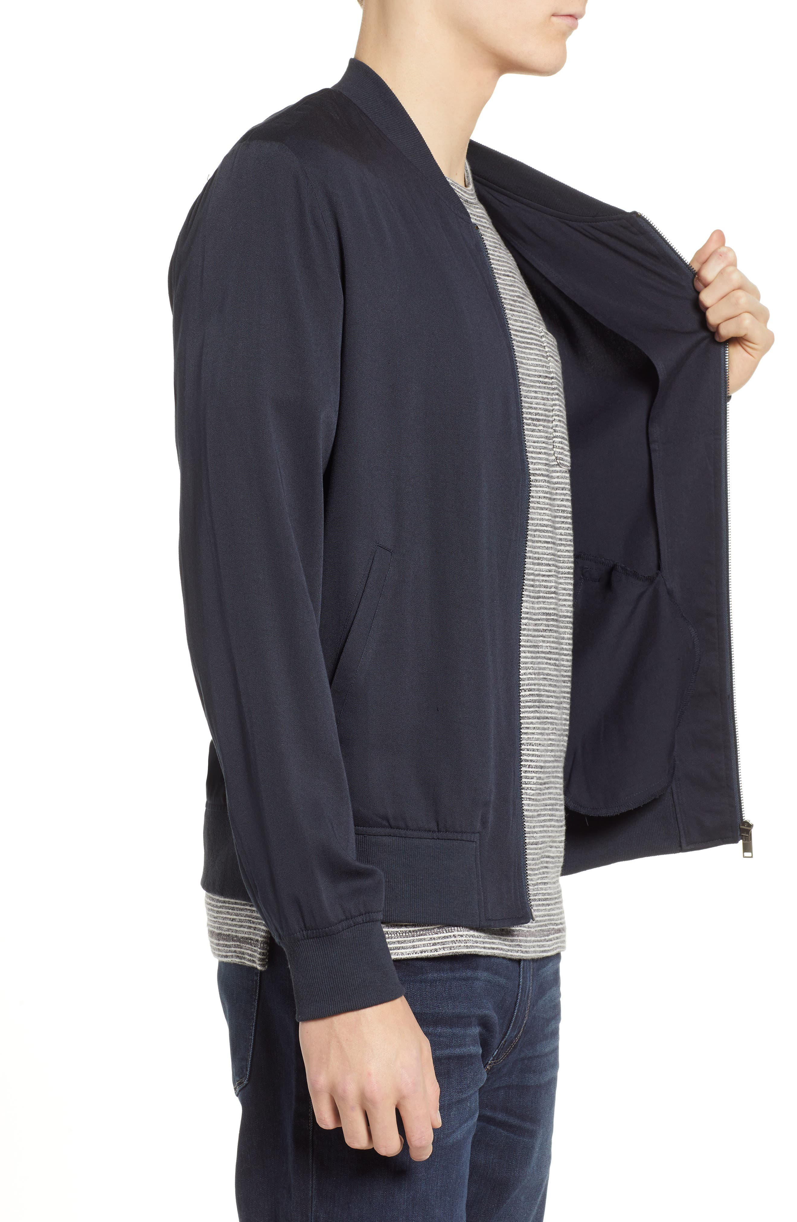 Lightweight Woven Jacket,                             Alternate thumbnail 3, color,                             CARBON