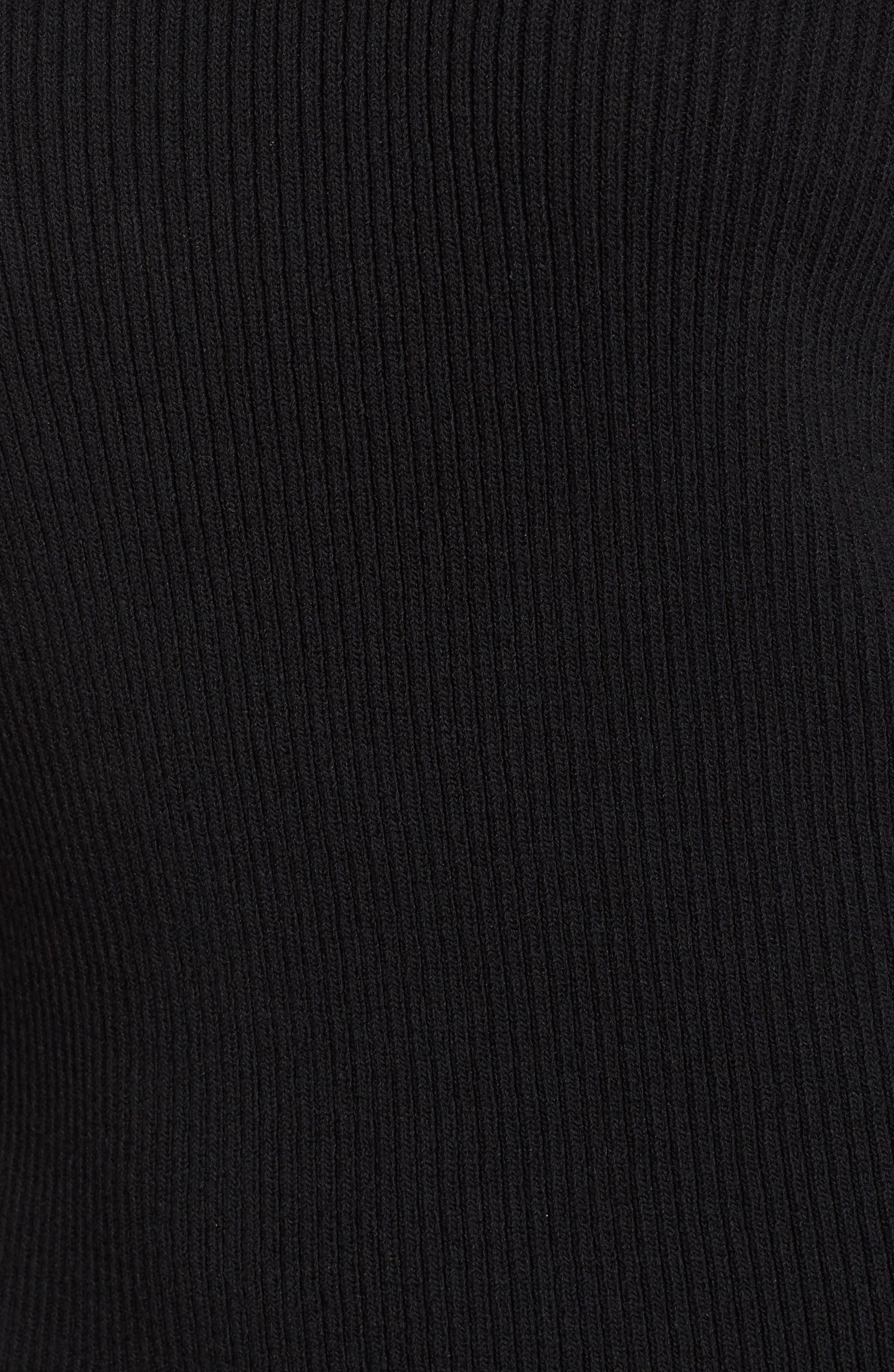 Zip Shoulder Ribbed Sweater,                             Alternate thumbnail 9, color,