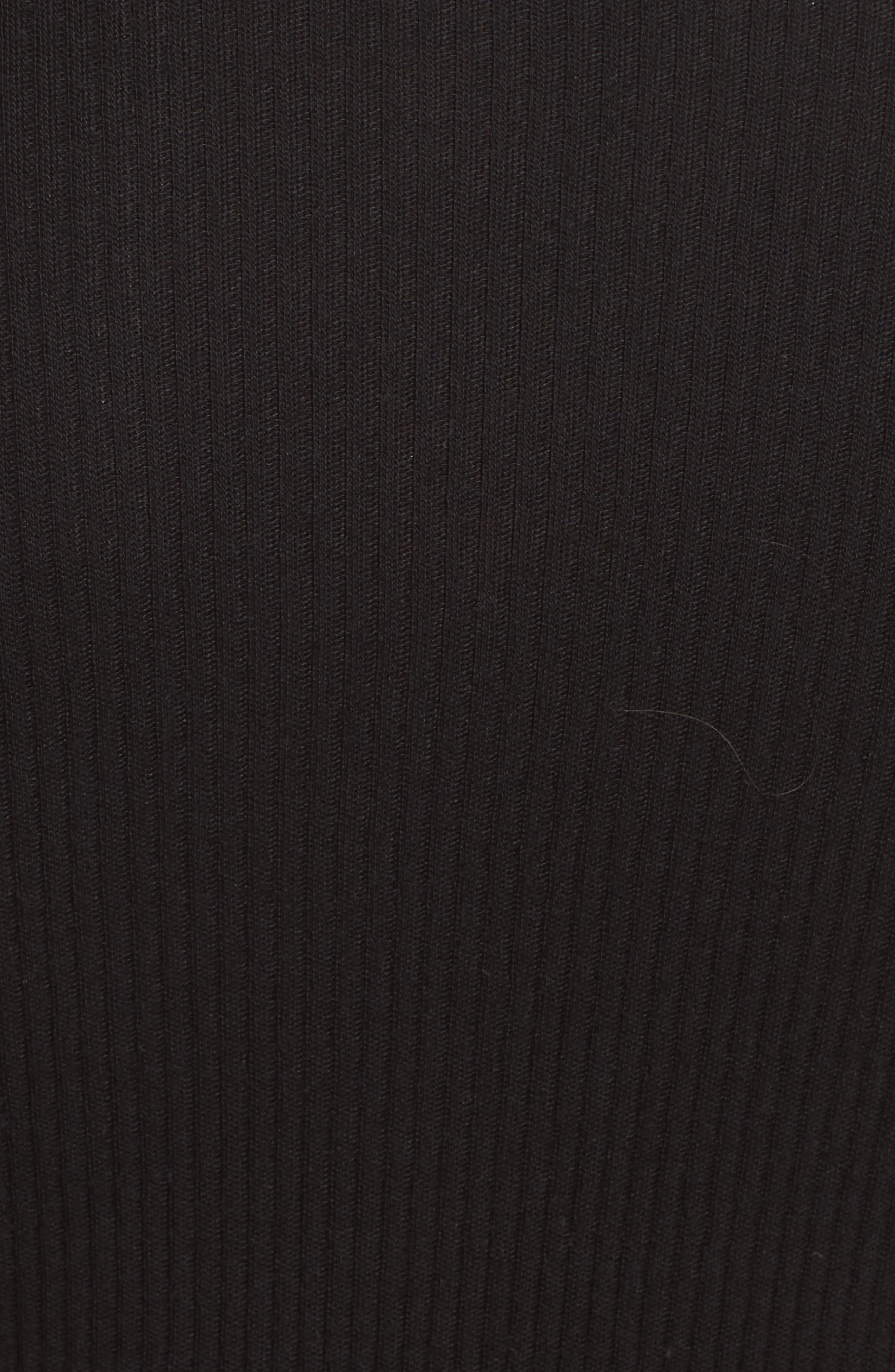 Combo Mock Neck Sweater Dress,                             Alternate thumbnail 5, color,                             001