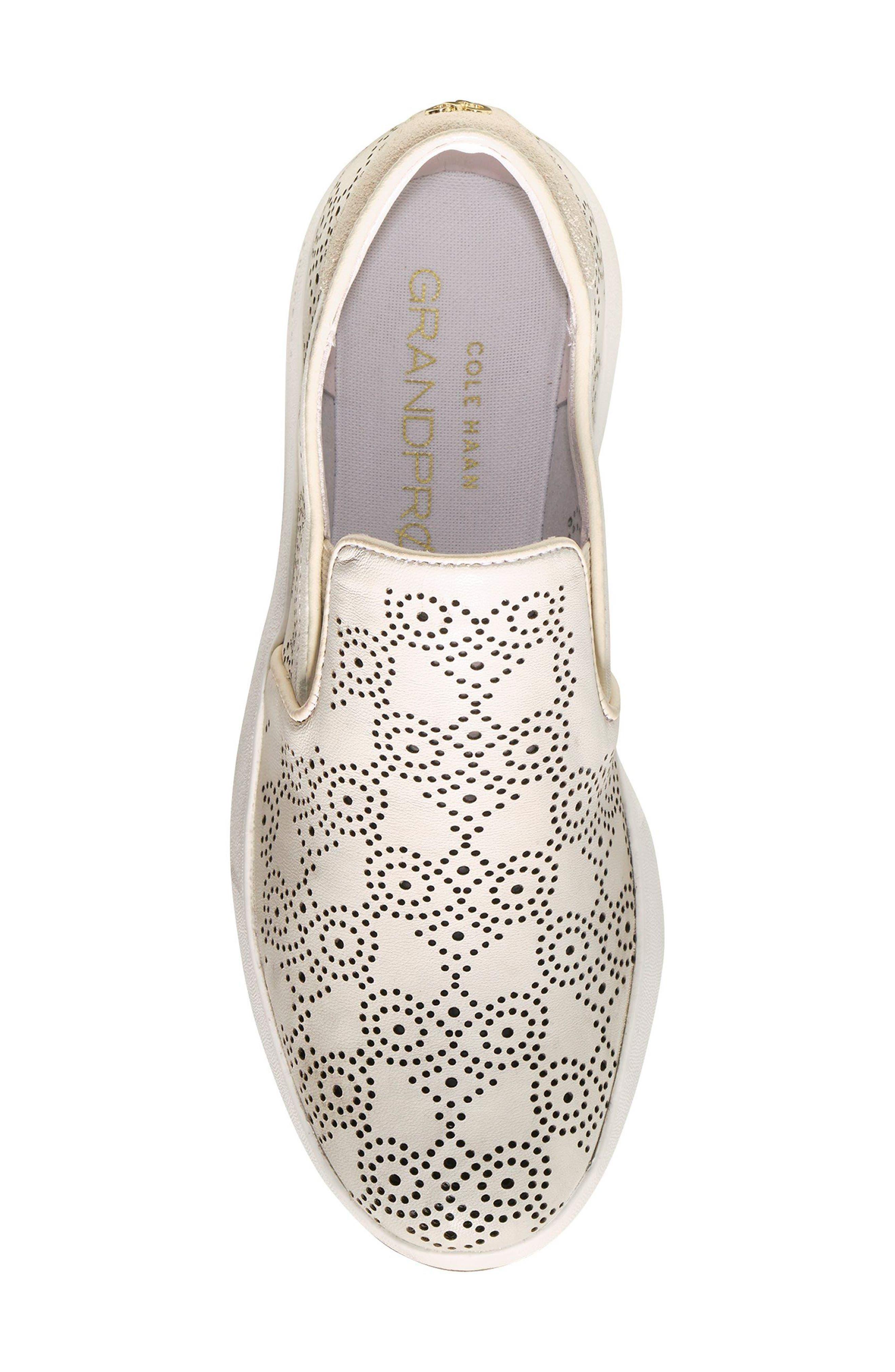 GrandPro Perforated Slip-On Sneaker,                             Alternate thumbnail 7, color,