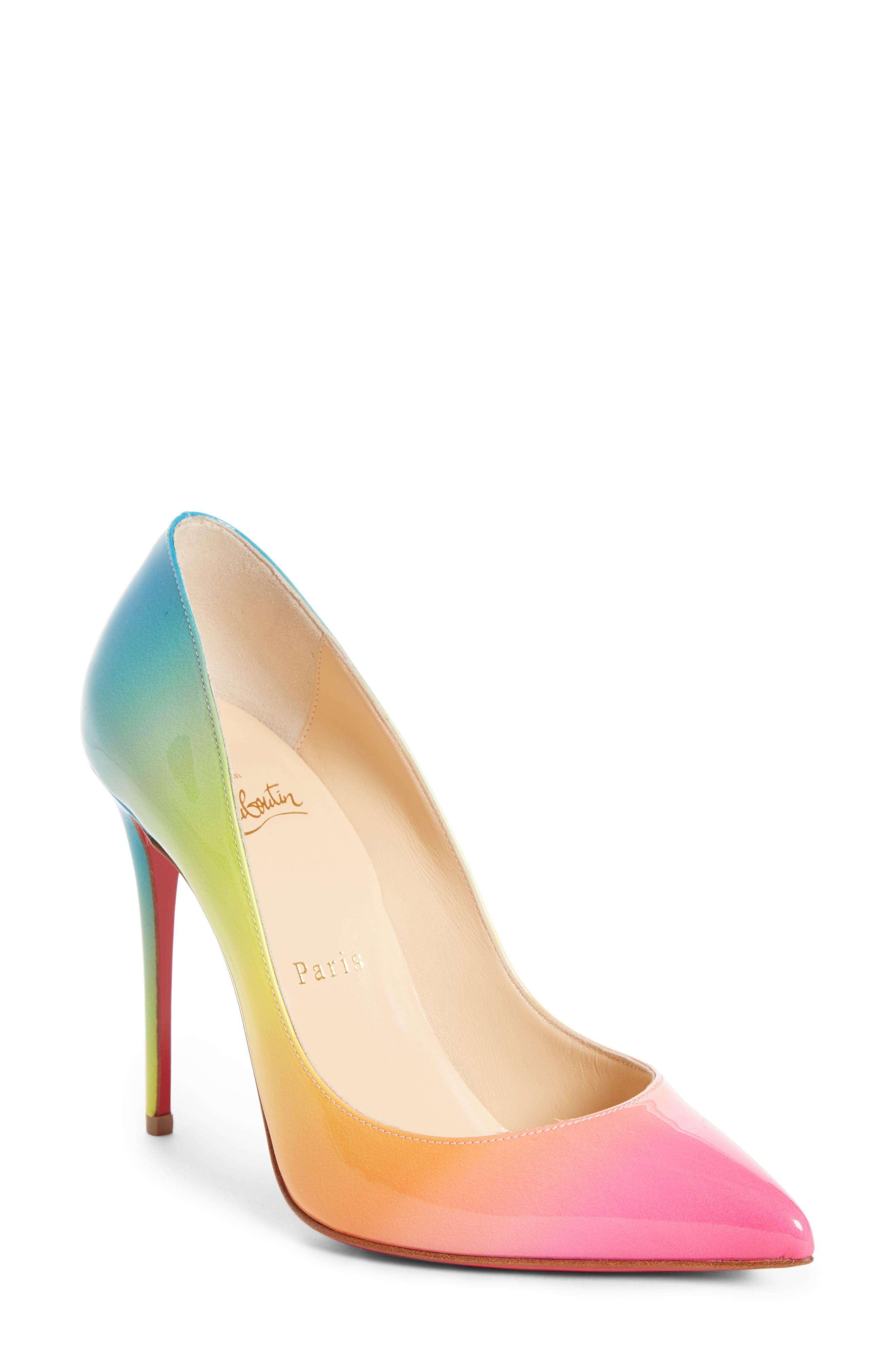 Rainbow Pigalle Follies Pump,                         Main,                         color, RAINBOW