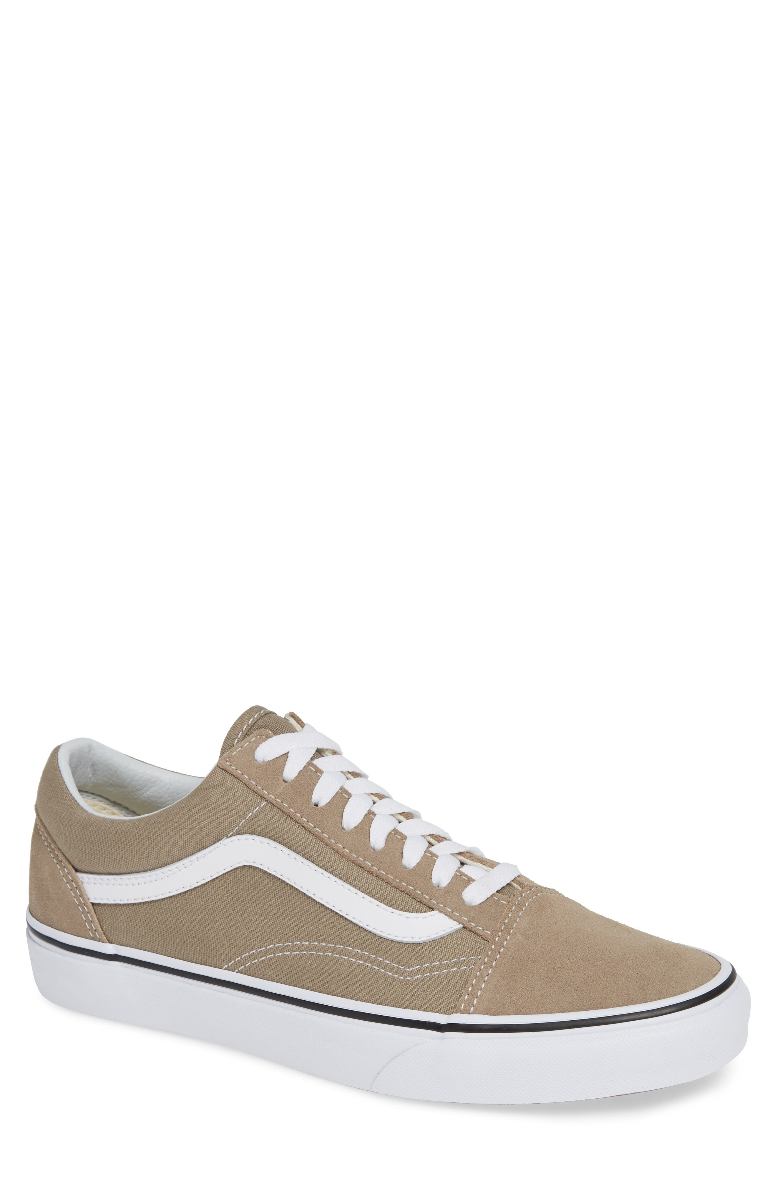 'Old Skool' Sneaker,                         Main,                         color, DESERT TAUPE/ WHITE CANVAS