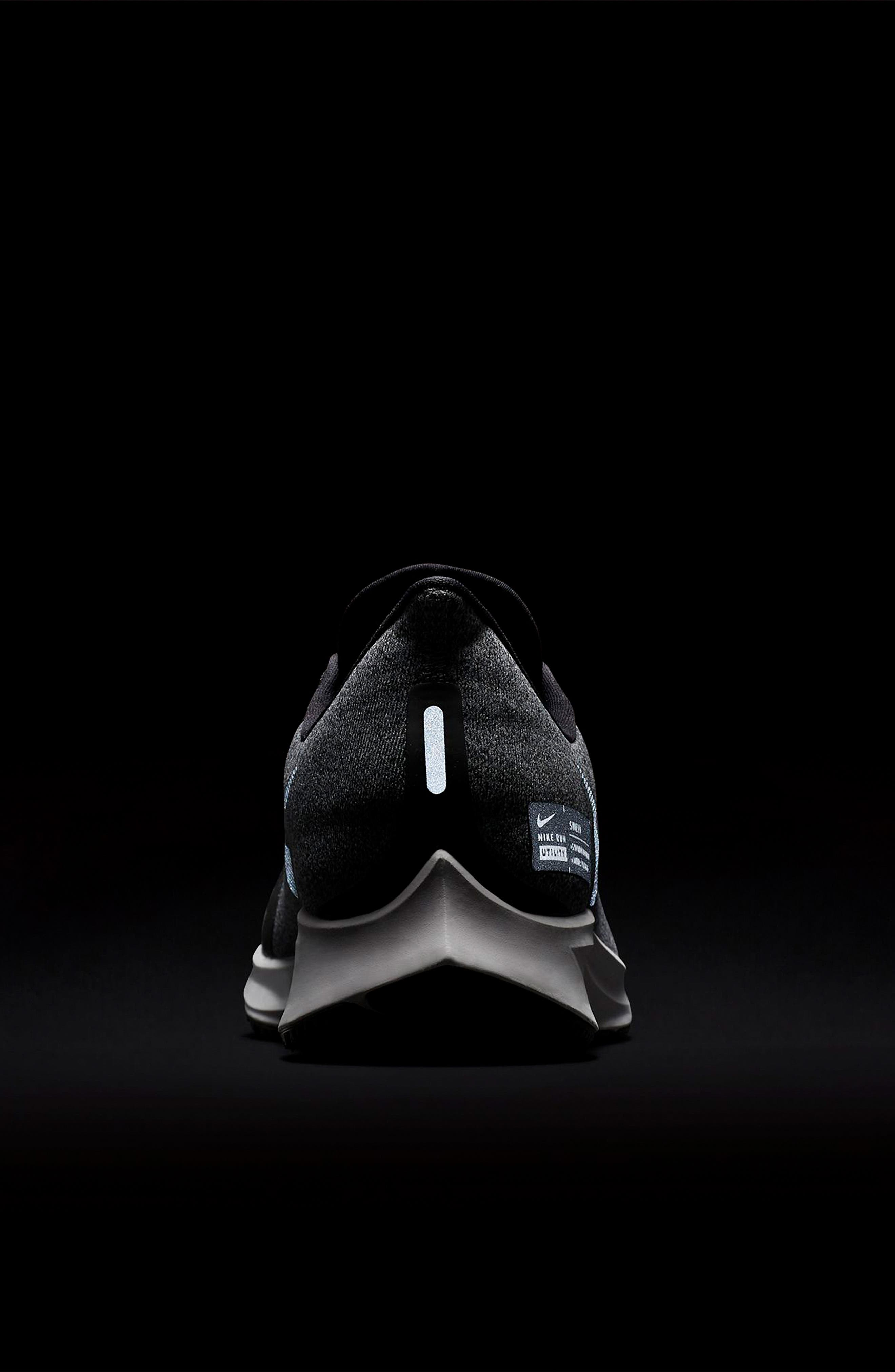 Air Zoom Pegasus 35 Shield Water Repellent Running Shoe,                             Alternate thumbnail 8, color,                             BLACK/ WHITE/ COOL GREY
