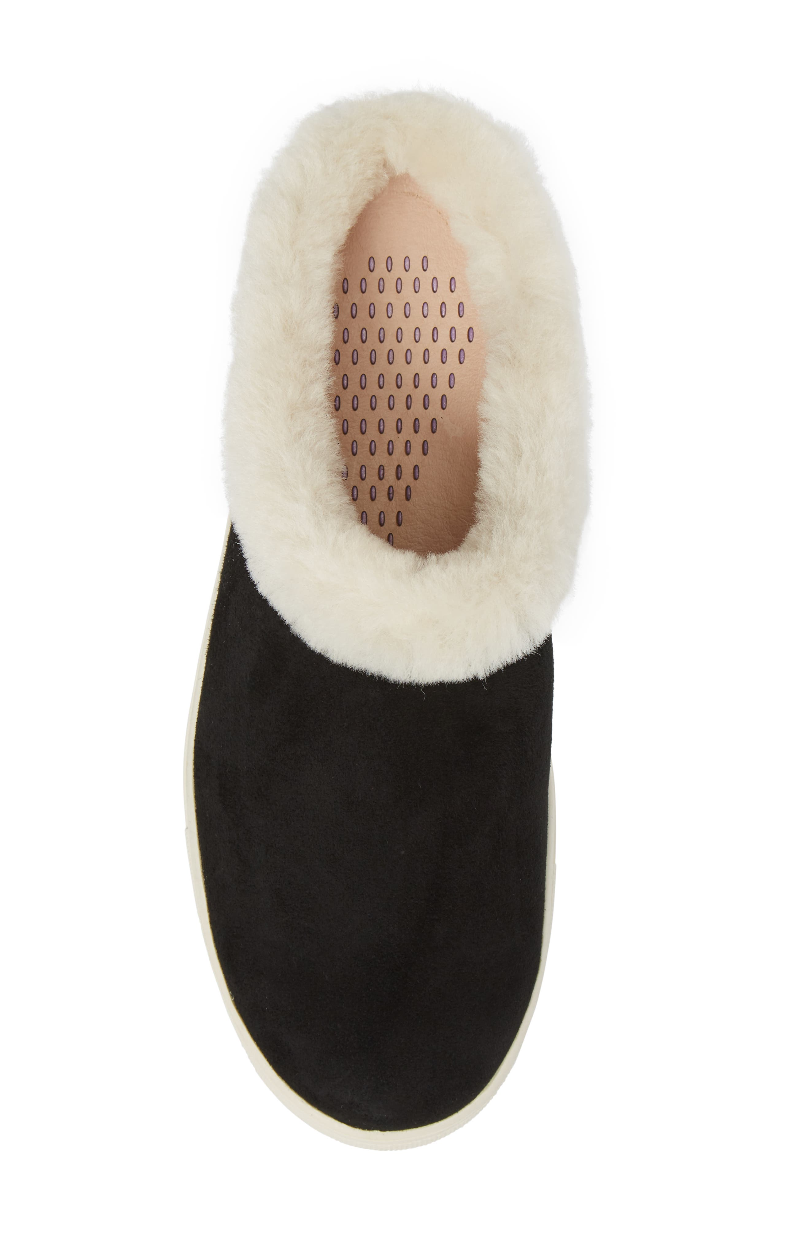 Leia Genuine Shearling Lined Slip-On,                             Alternate thumbnail 5, color,                             001