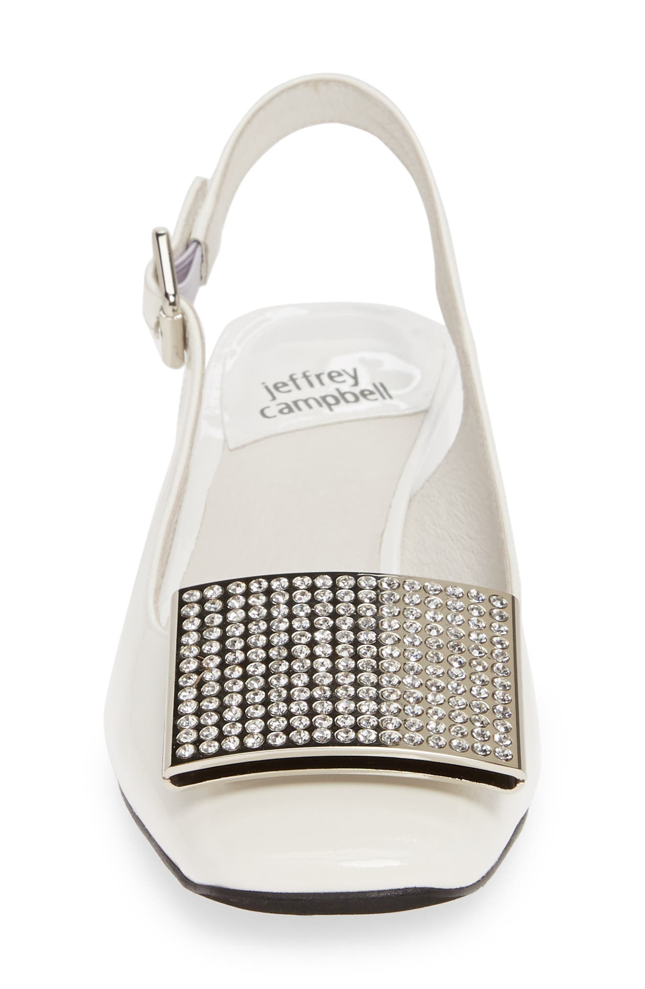 JEFFREY CAMPBELL,                             Billion Jewel Slingback Pump,                             Alternate thumbnail 4, color,                             WHITE PATENT LEATHER/ SILVER