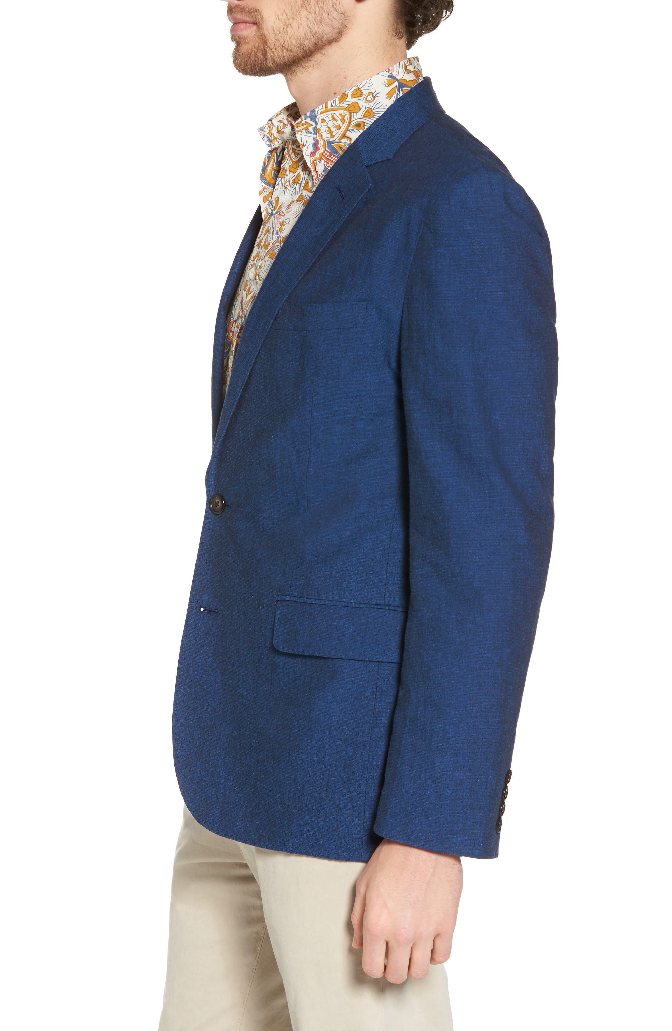 Ludlow Cotton & Linen Blazer,                             Alternate thumbnail 3, color,                             400