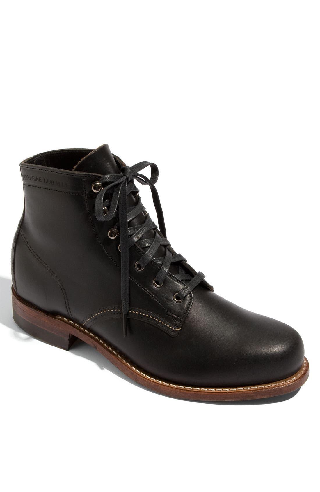 WOLVERINE Courtland 1000 Mile Boot, Black
