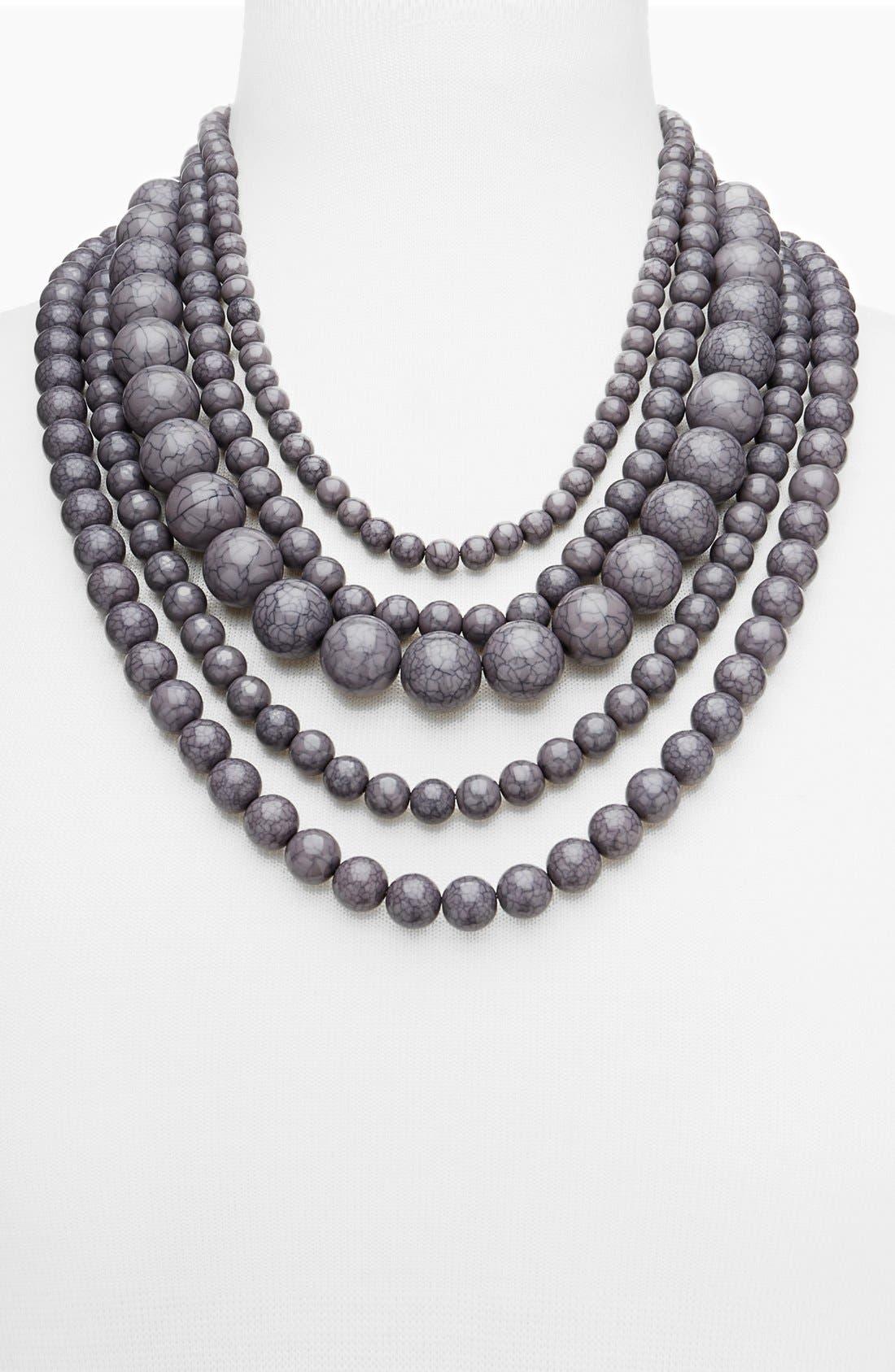 'Globe' Multistrand Beaded Necklace,                             Alternate thumbnail 4, color,                             021