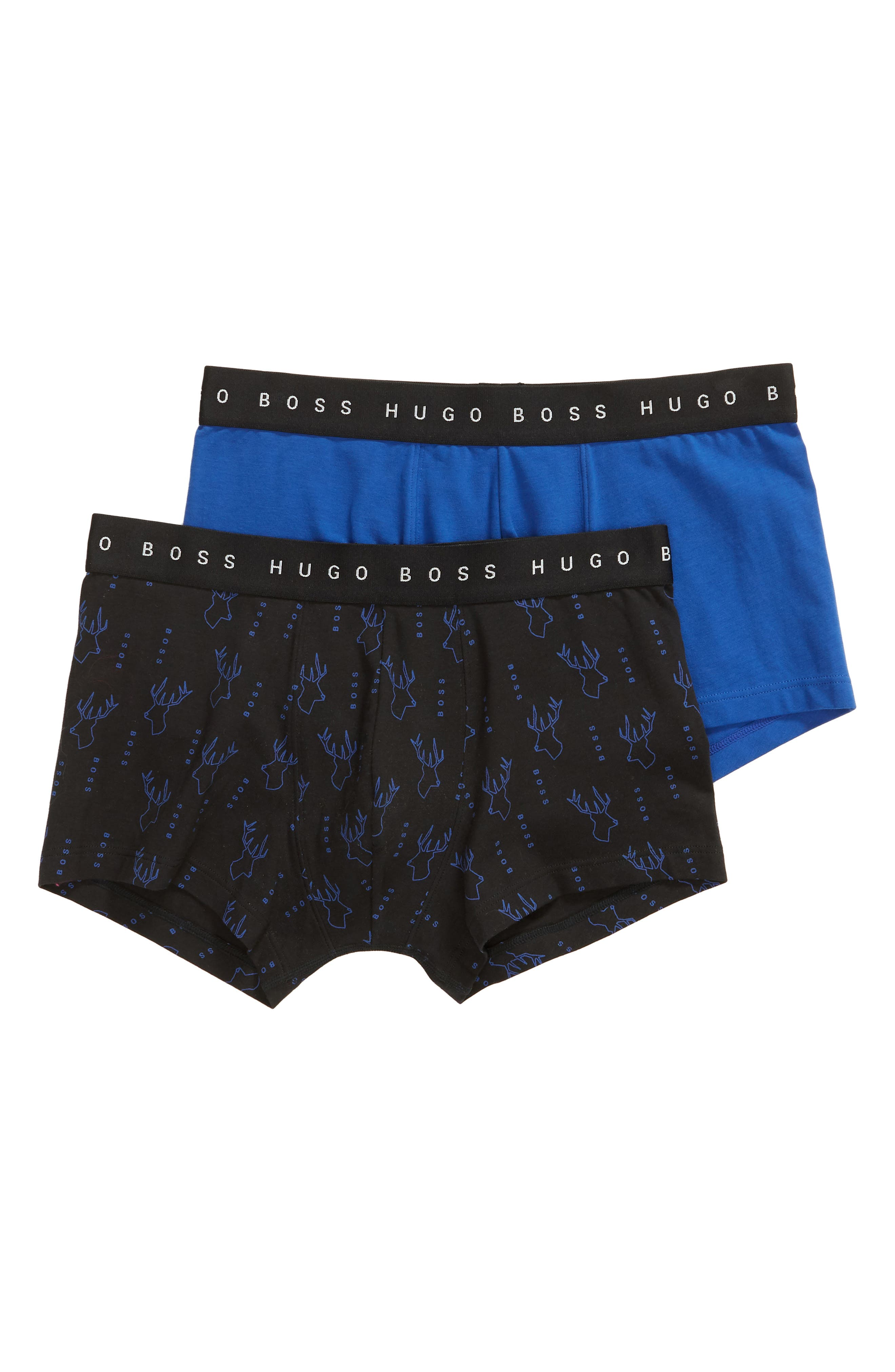 BOSS 2-Pack Cotton Trunks, Main, color, 424