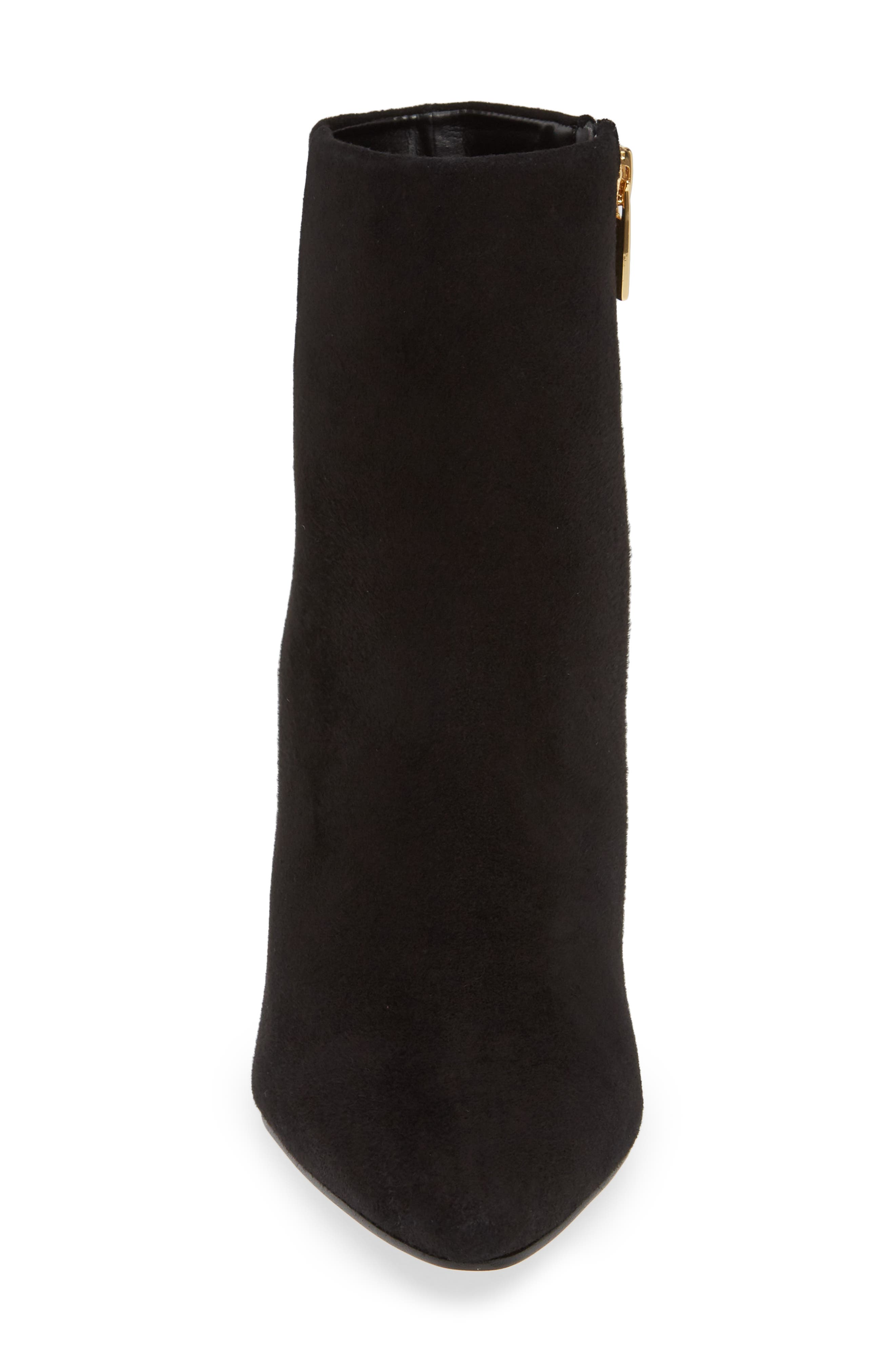 VINCE CAMUTO,                             Thelmin Genuine Calf Hair Bootie,                             Alternate thumbnail 4, color,                             003