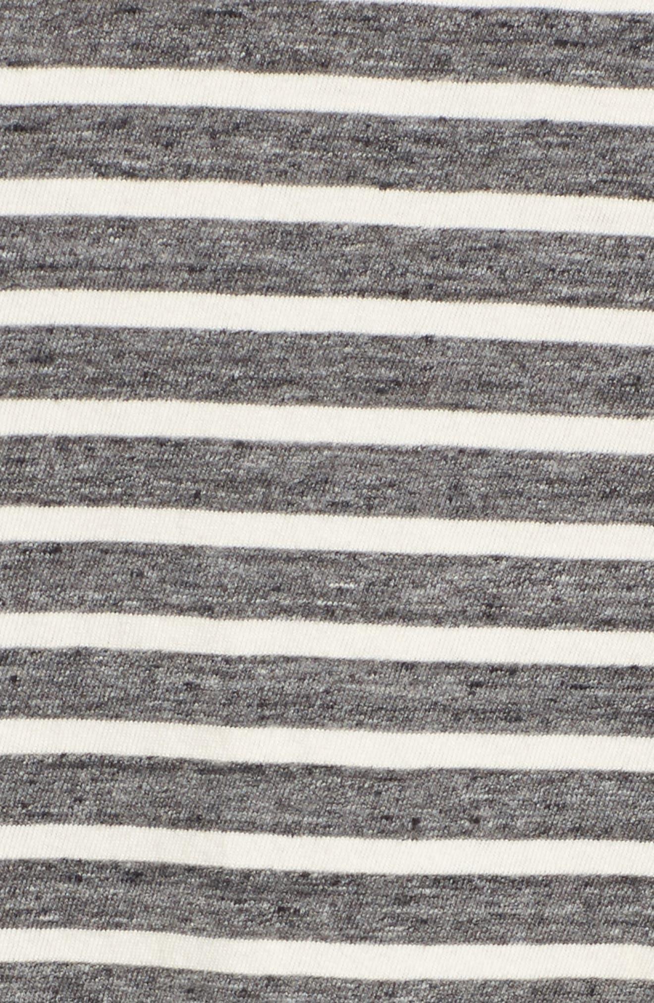 Stripe Slouchy Tee,                             Alternate thumbnail 5, color,                             022