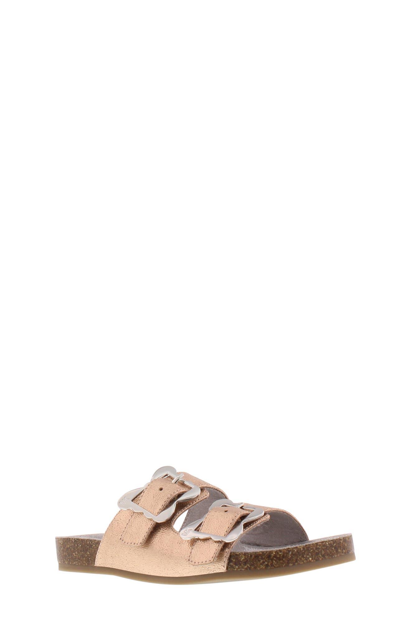 Ethel Chrysalis Slide Sandal, Main, color, ROSE GOLD 2
