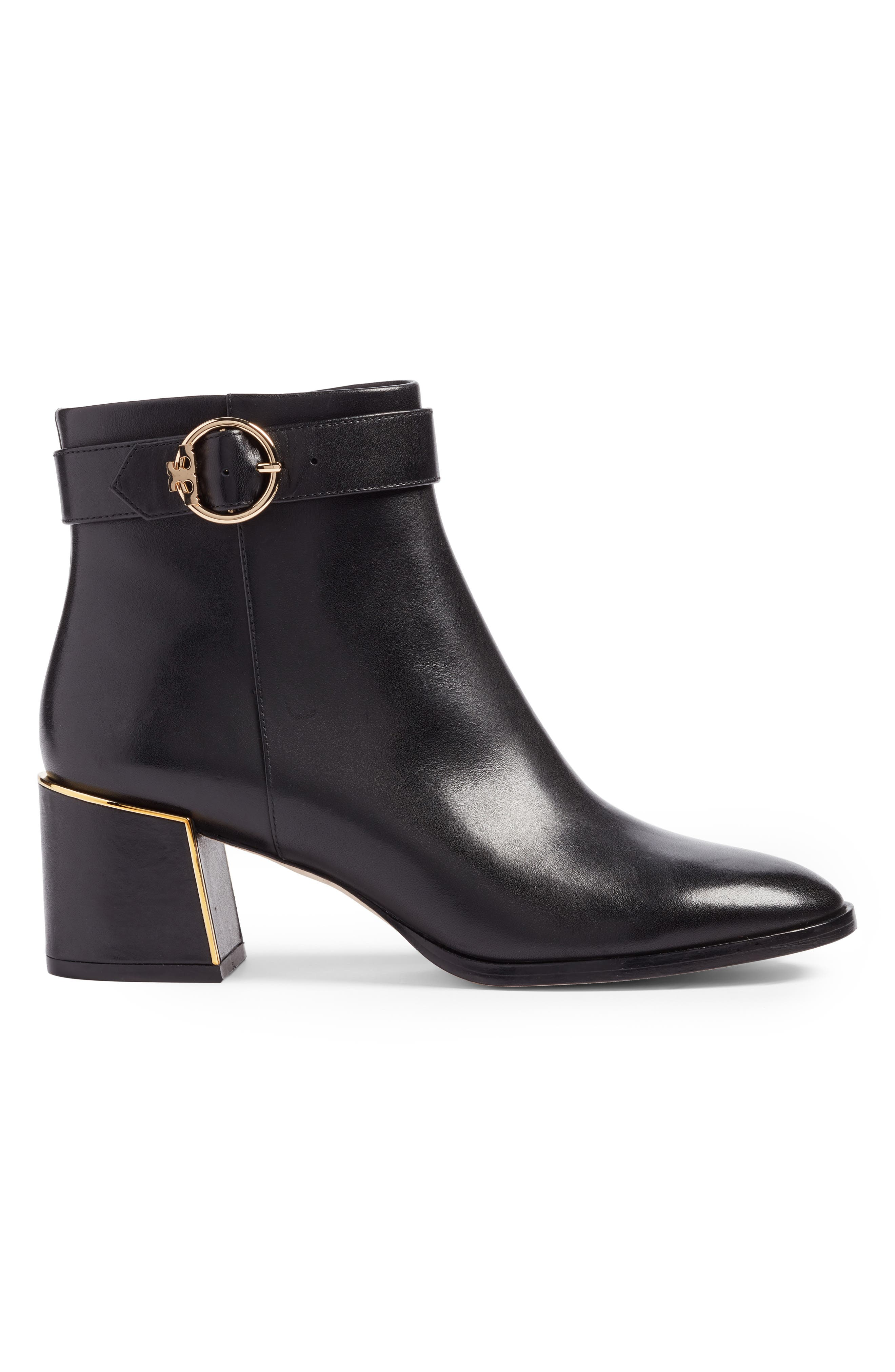 Sofia Buckle Strap Bootie,                             Alternate thumbnail 3, color,                             001