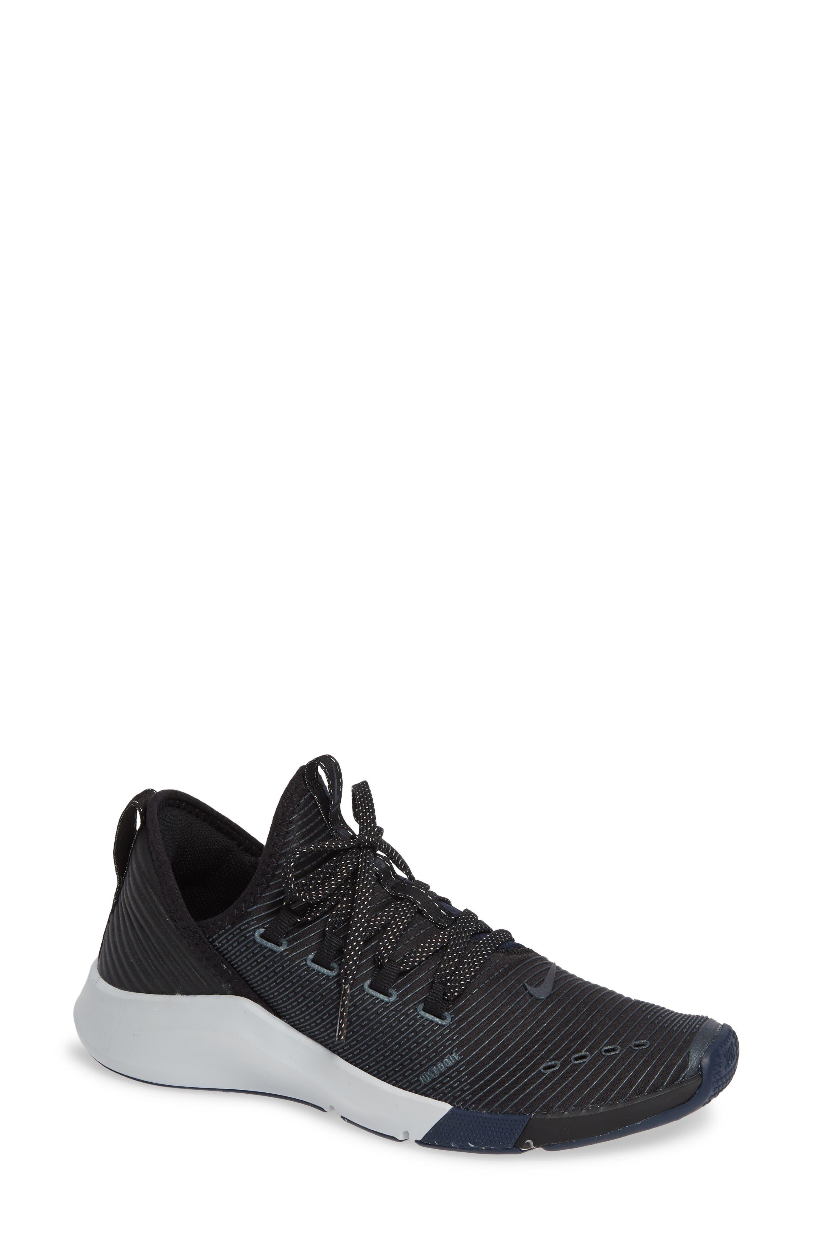 NIKE,                             Air Zoom Elevate Training Shoe,                             Main thumbnail 1, color,                             BLACK/ METALLIC NAVY- NAVY