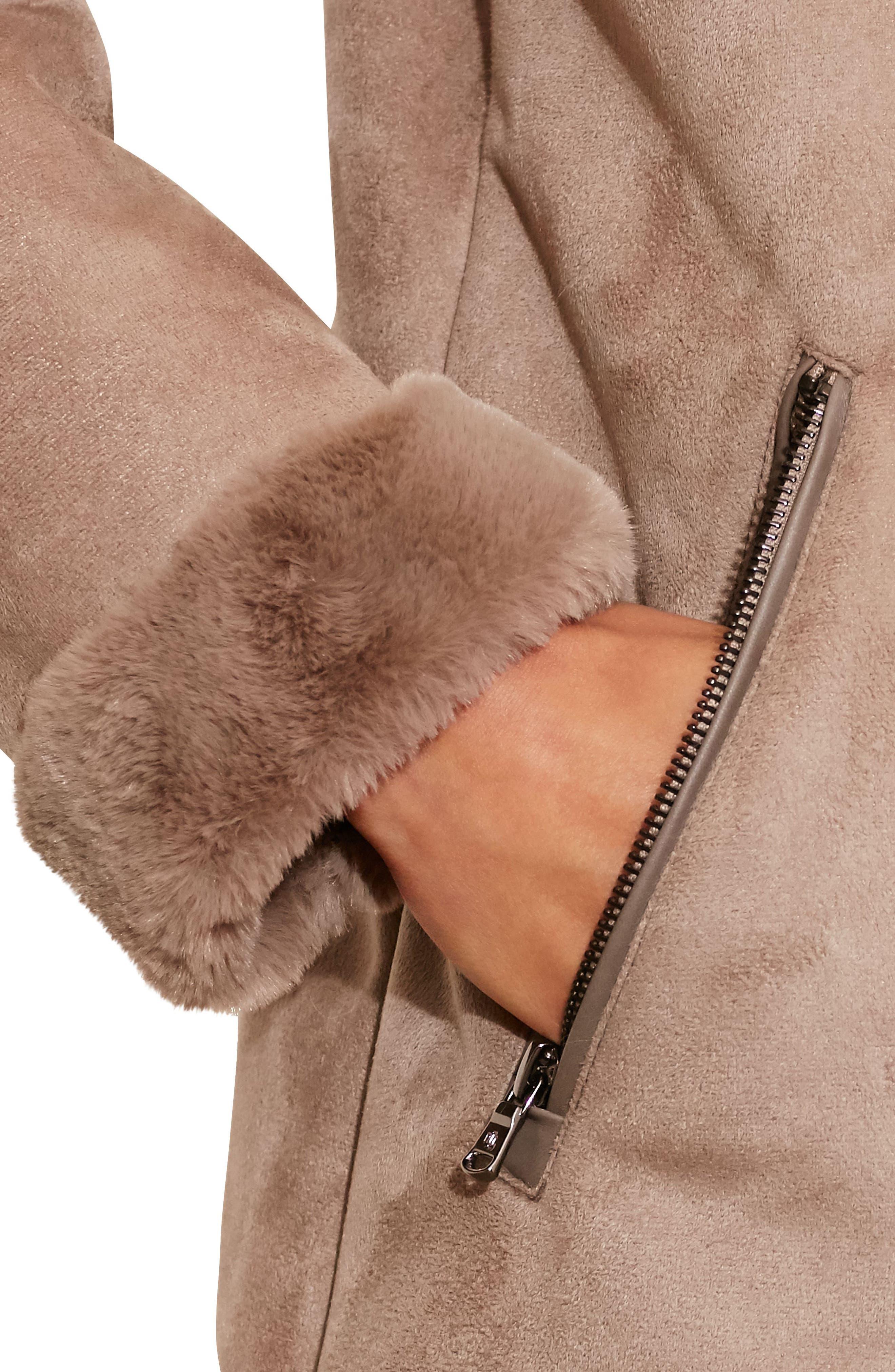 Faux Shearling Parka with Faux Fur,                             Alternate thumbnail 3, color,                             253