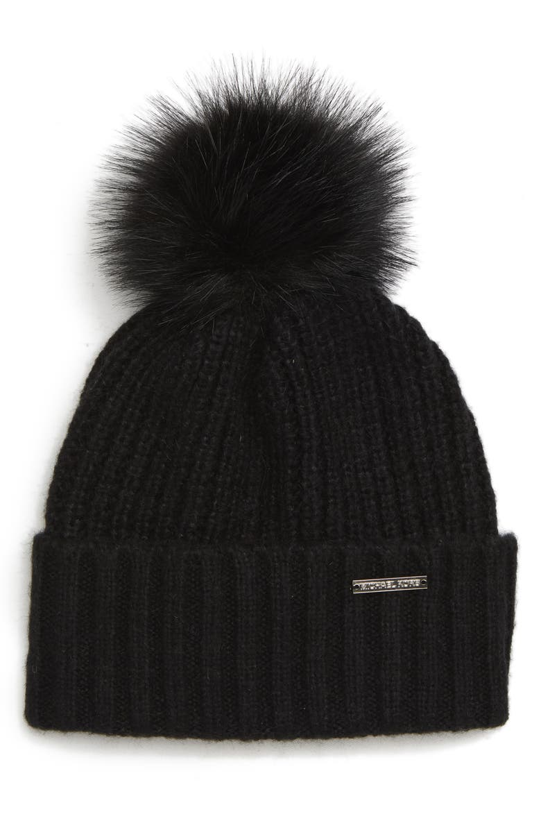 Thermal Stitch Hat,                         Main,                         color, BLACK/ SILVER