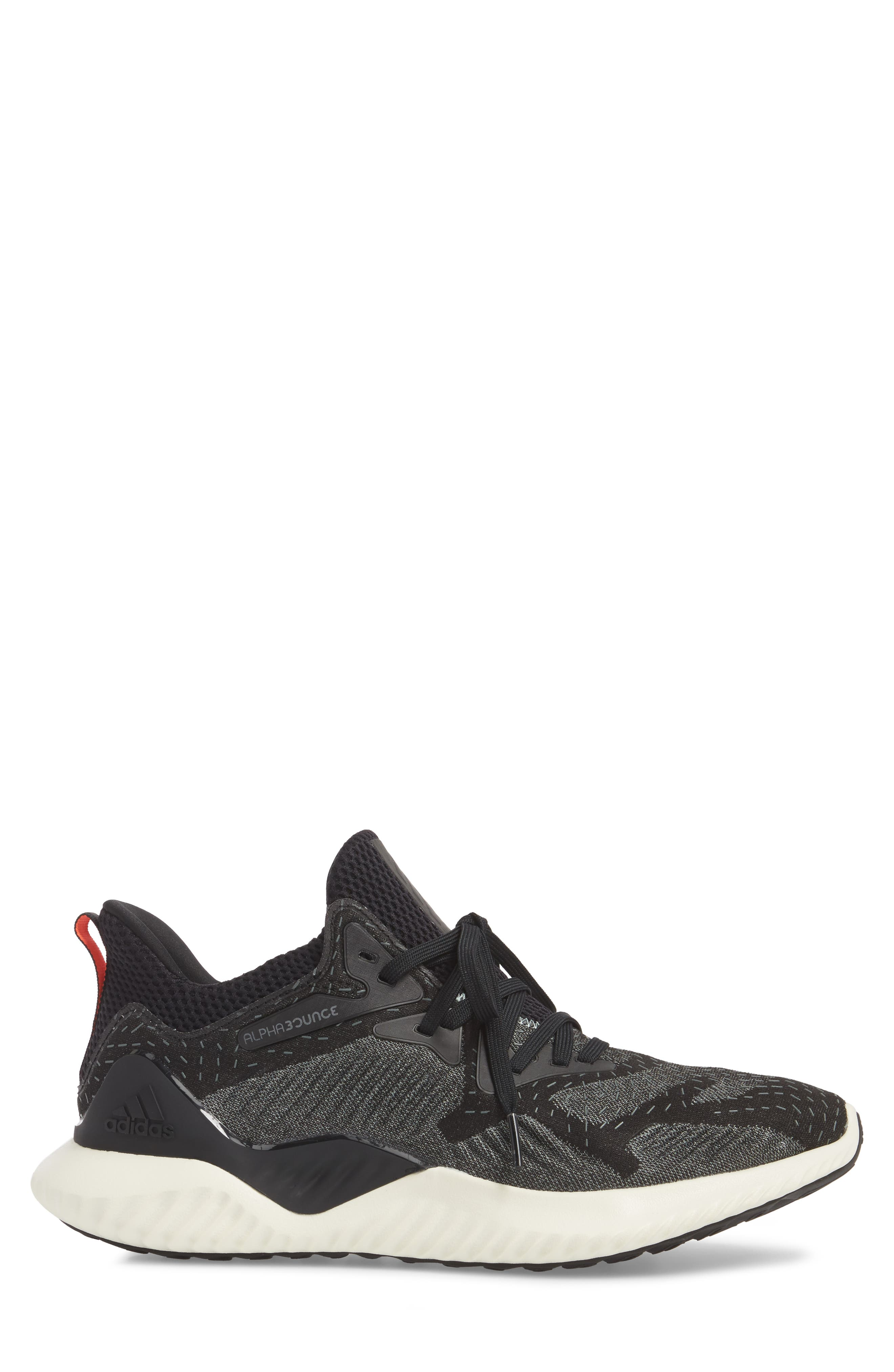 ADIDAS,                             AlphaBounce Beyond Knit Running Shoe,                             Alternate thumbnail 3, color,                             001