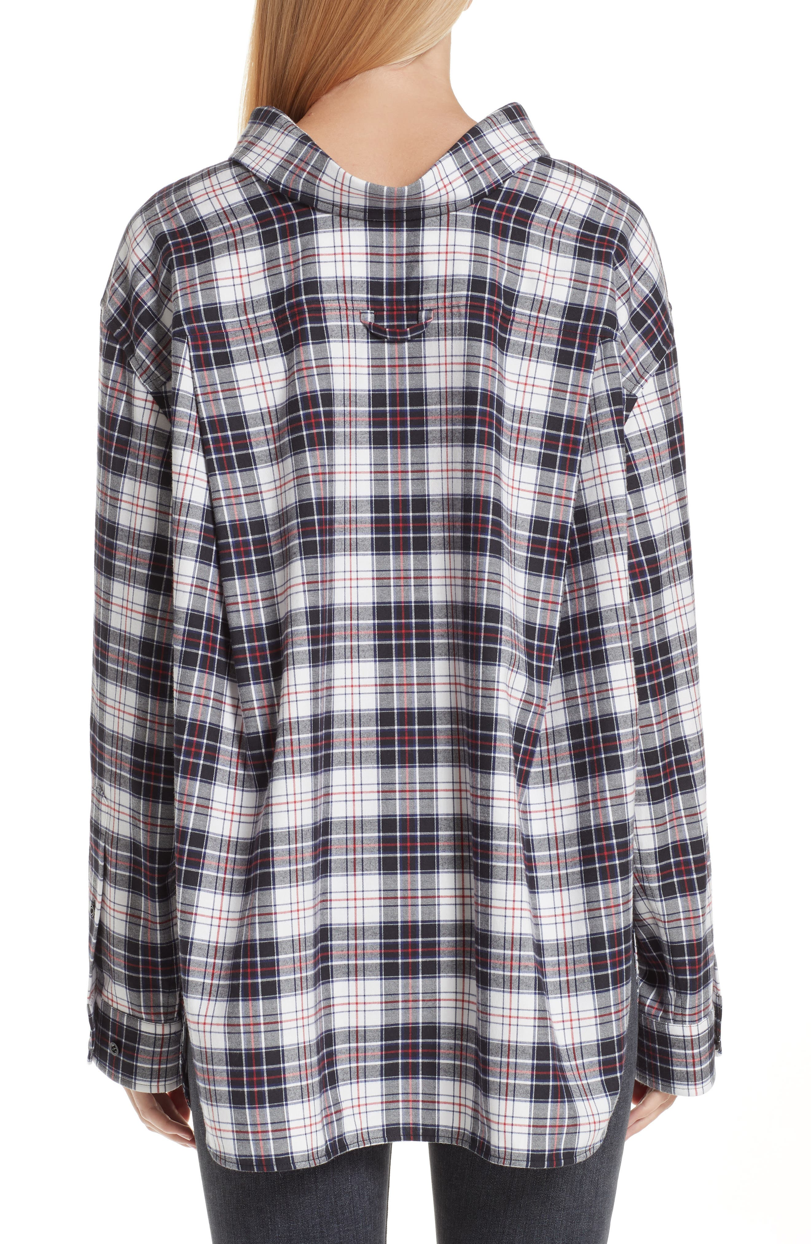 Swing Plaid Flannel Shirt,                             Alternate thumbnail 2, color,                             120