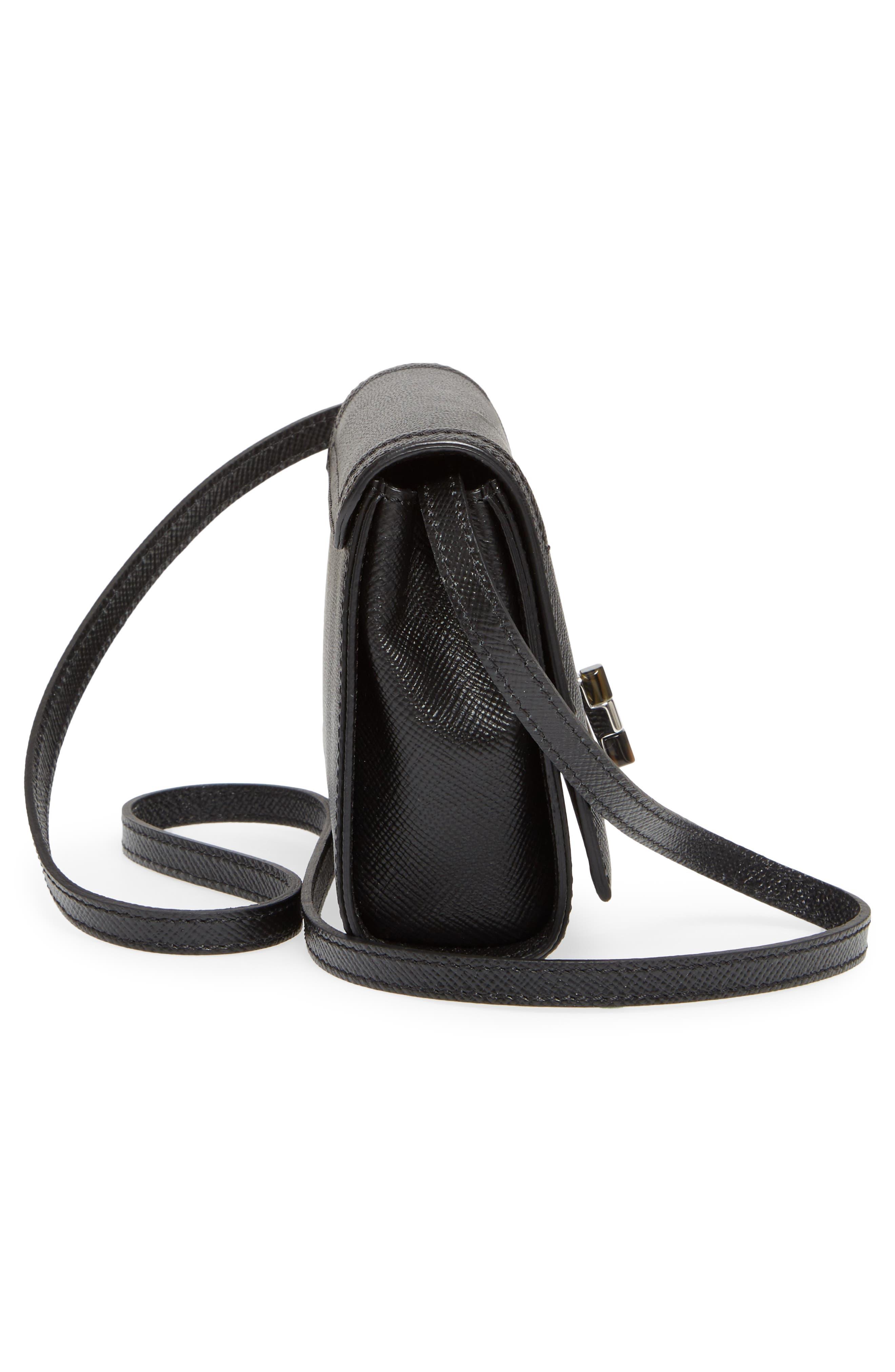 Mini Ilenea Leather Crossbody Bag,                             Alternate thumbnail 6, color,                             001
