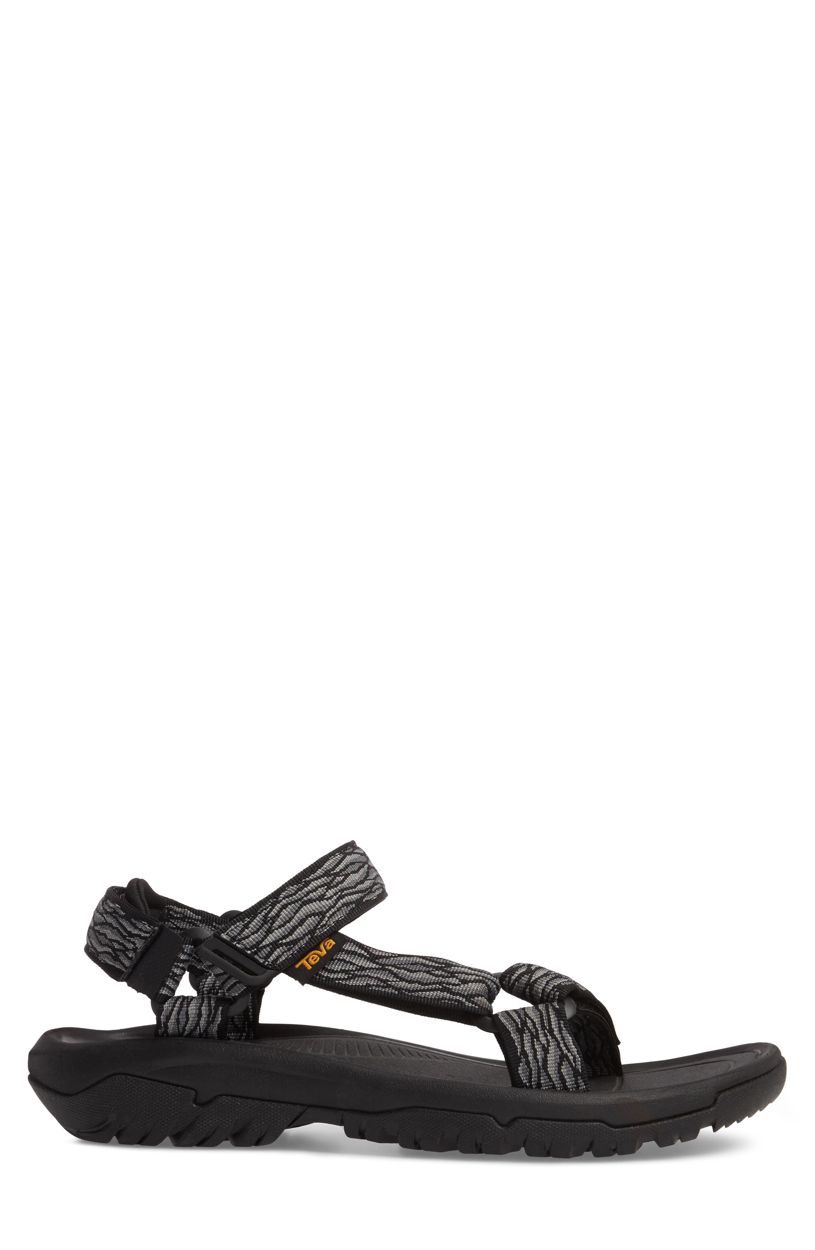 Hurricane XLT 2 Sandal,                             Alternate thumbnail 3, color,                             BLACK/ GREY NYLON