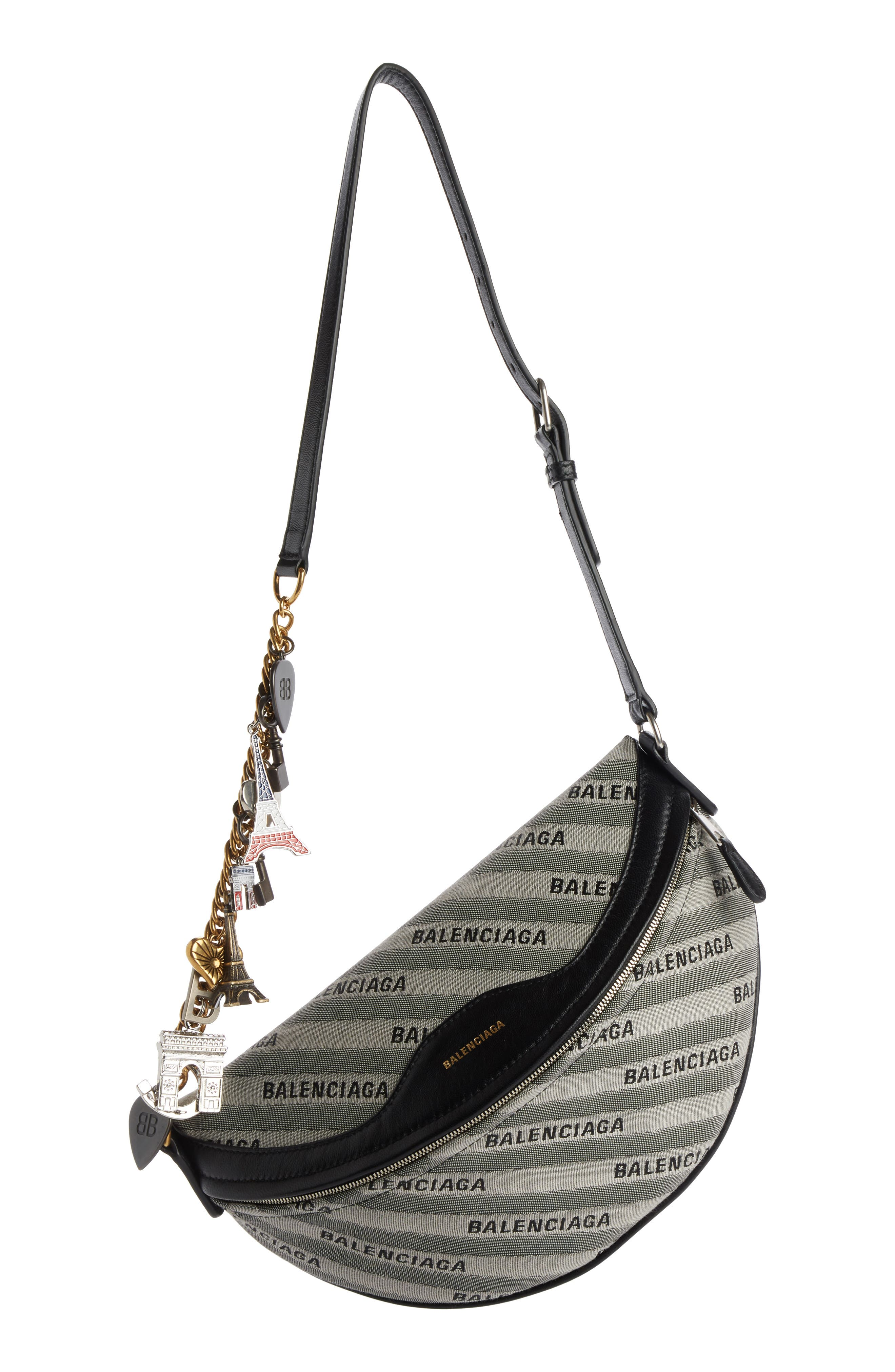 Extra Small Souvenir Logo Belt Bag,                             Main thumbnail 1, color,                             GRIS