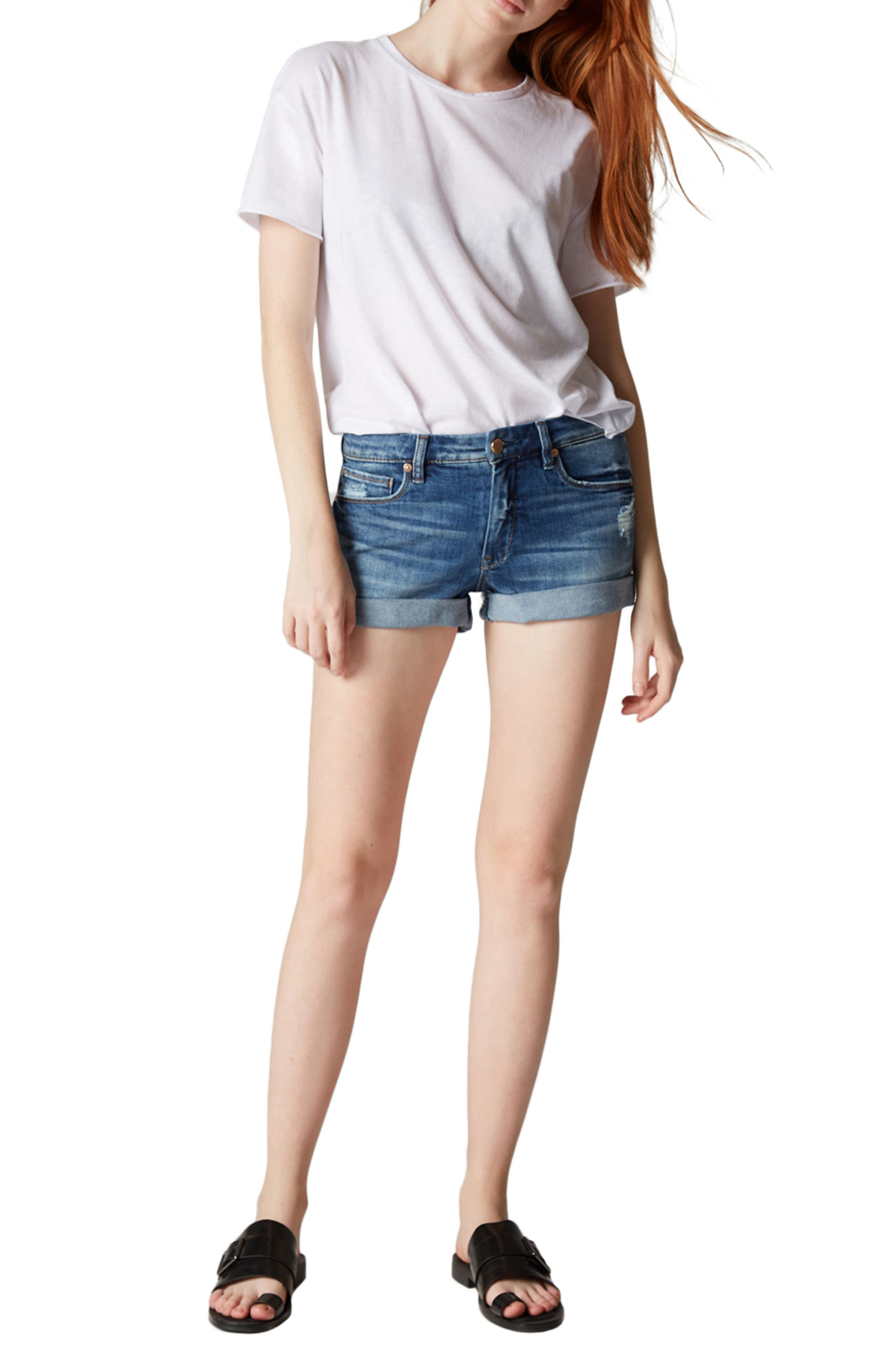The Fulton Cuffed Denim Shorts,                             Alternate thumbnail 8, color,                             400