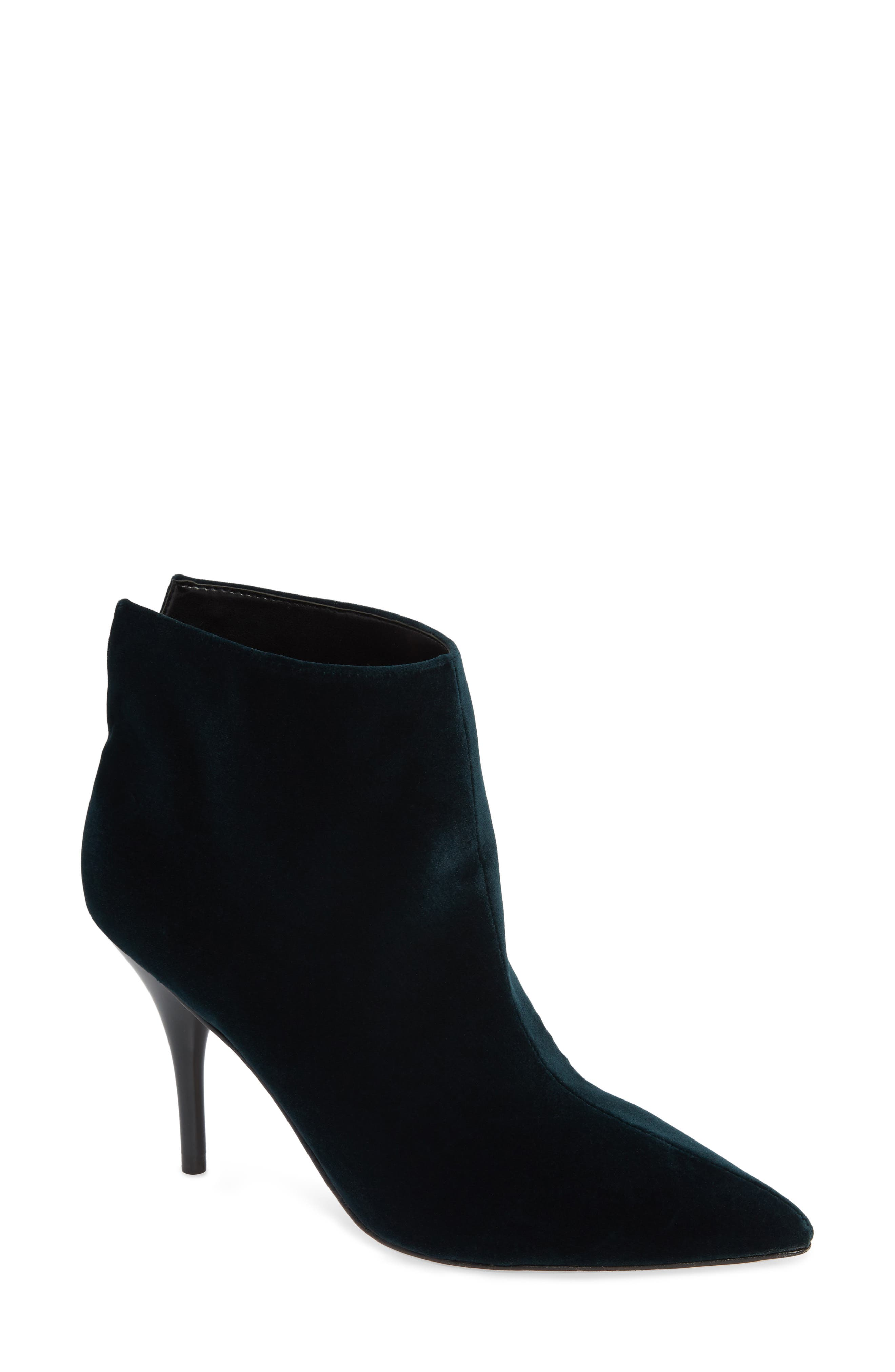 MARC FISHER LTD,                             Fenet Pointy Toe Bootie,                             Main thumbnail 1, color,                             SPRUCE FABRIC