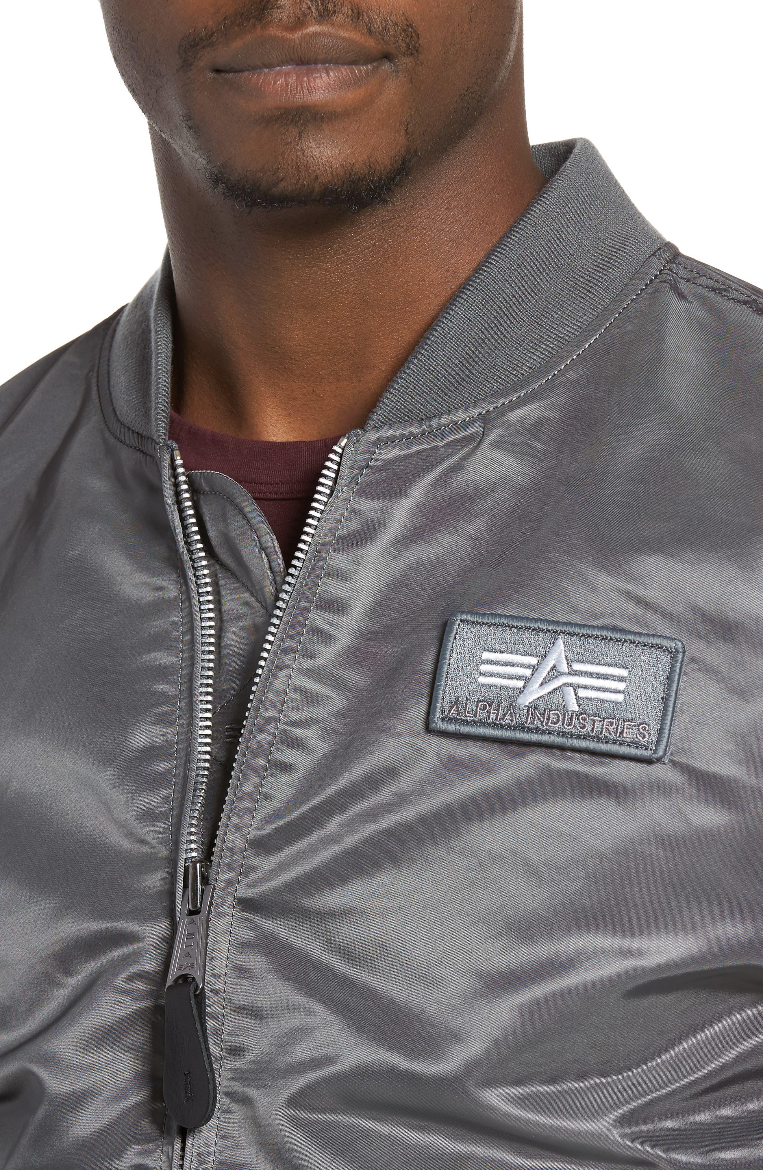 Lightweight L2-B Flight Jacket with Knit Hood,                             Alternate thumbnail 14, color,
