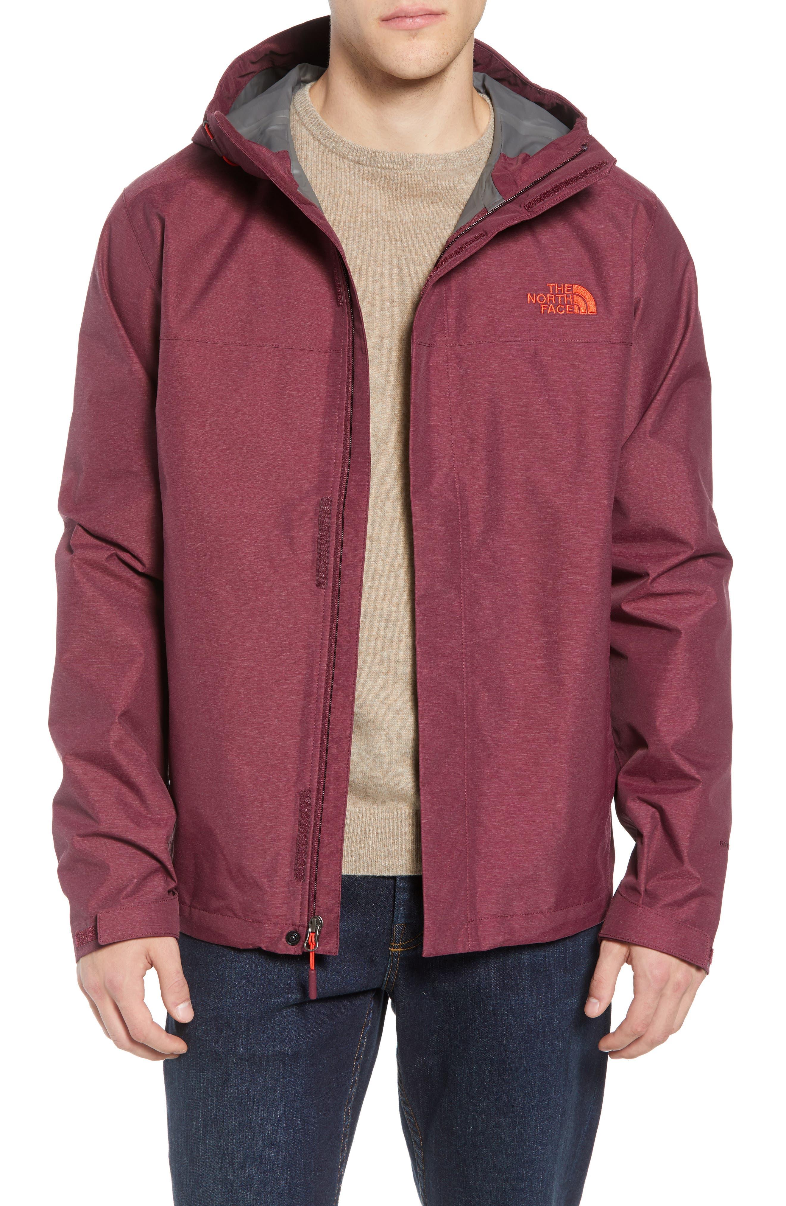 Venture II Raincoat,                         Main,                         color, FIG HEATHER/ FIG HEATHER