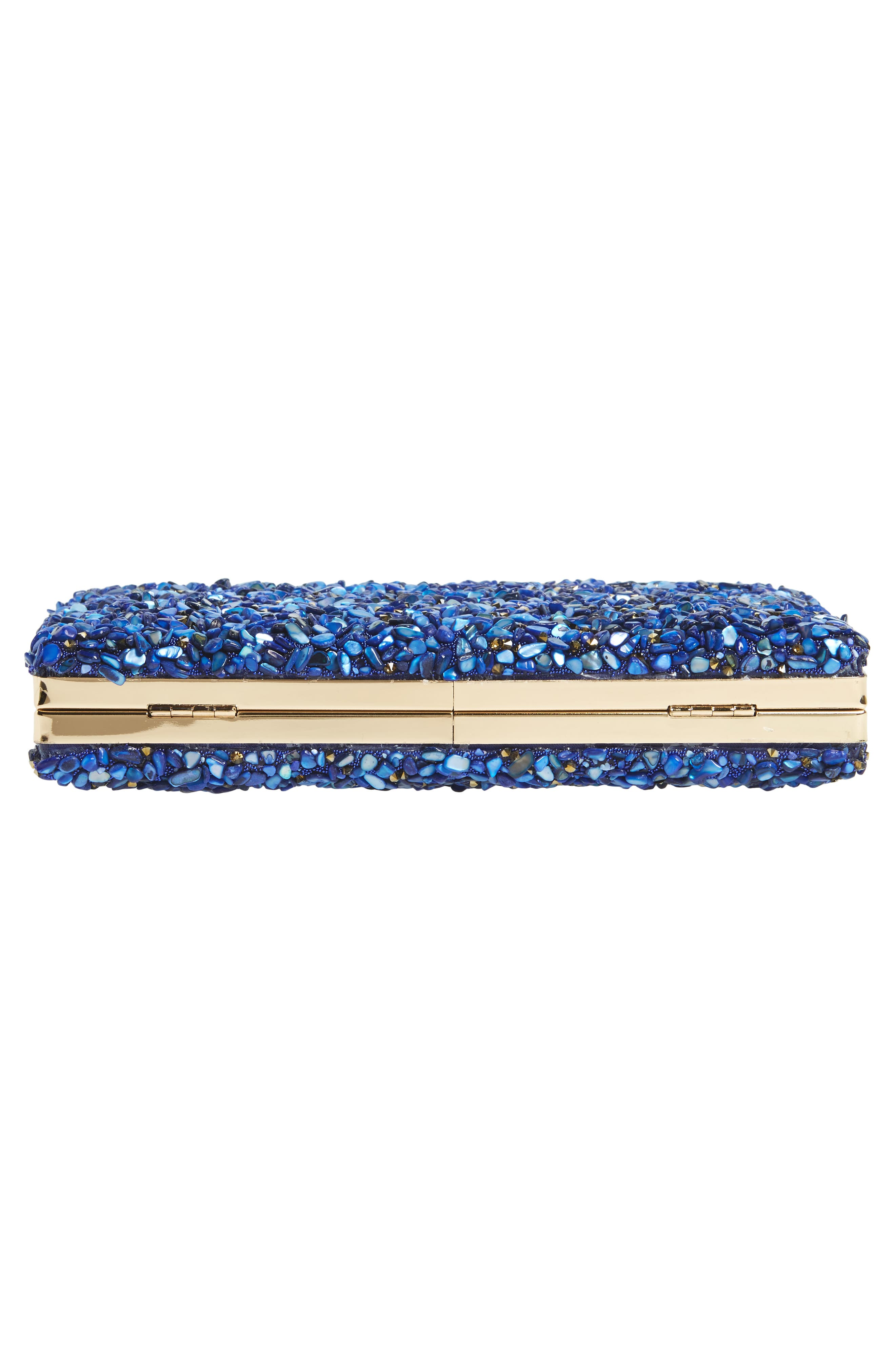 Chips Embellished Box Clutch,                             Alternate thumbnail 21, color,