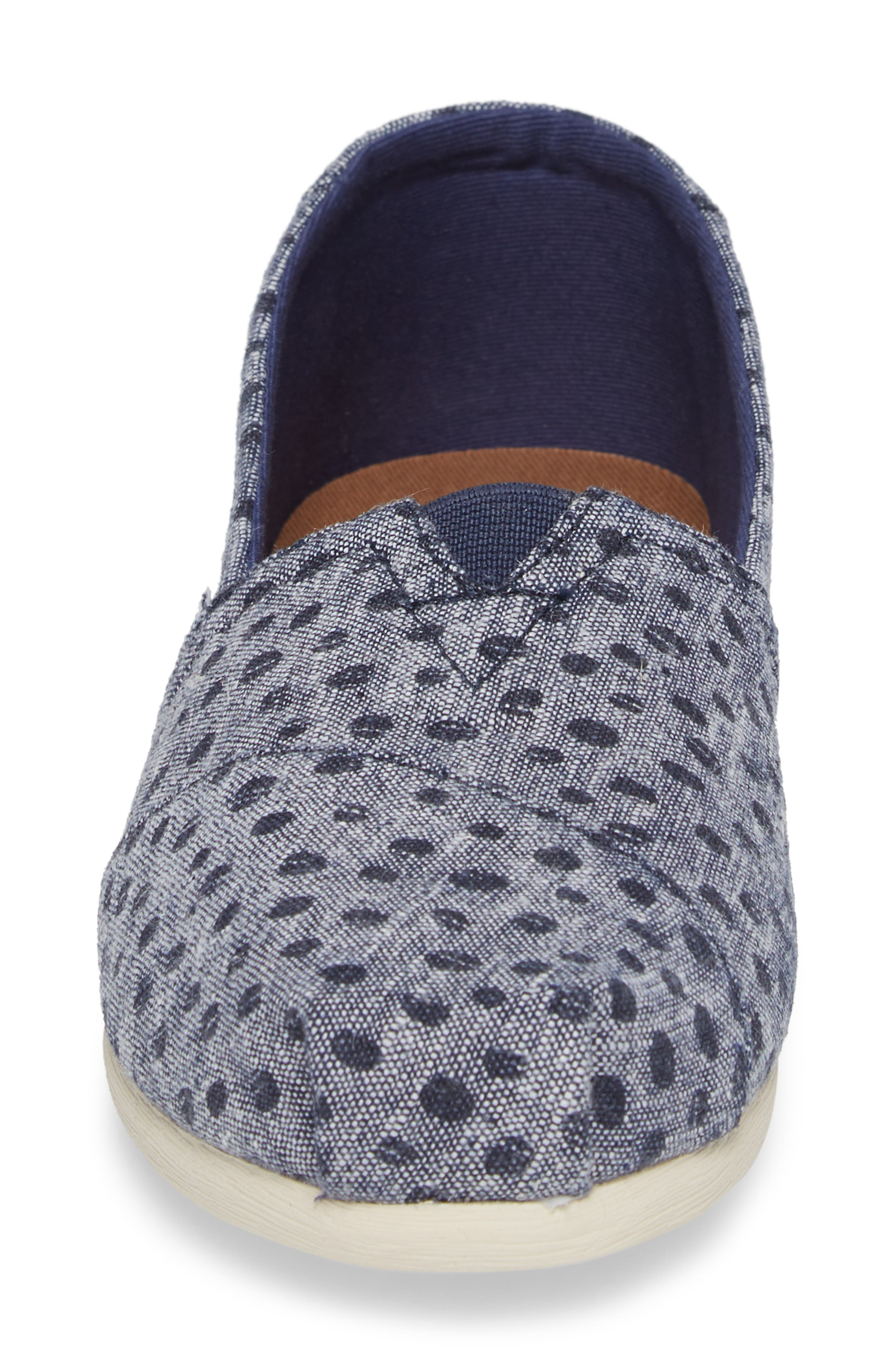 Alpargata Chambray Slip-On,                             Alternate thumbnail 4, color,                             410
