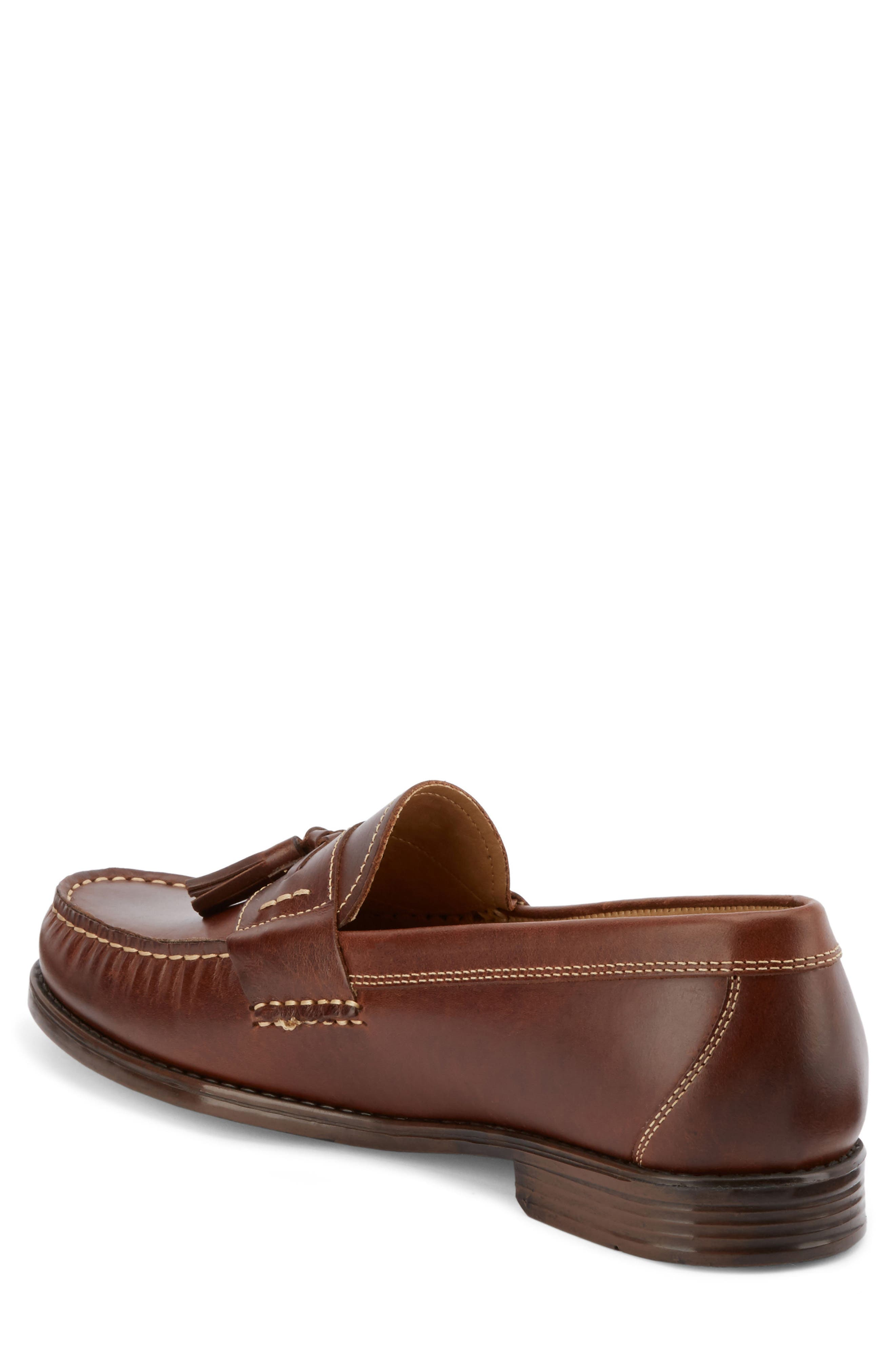 Wallace Tassel Loafer,                             Alternate thumbnail 2, color,                             DARK BROWN LEATHER