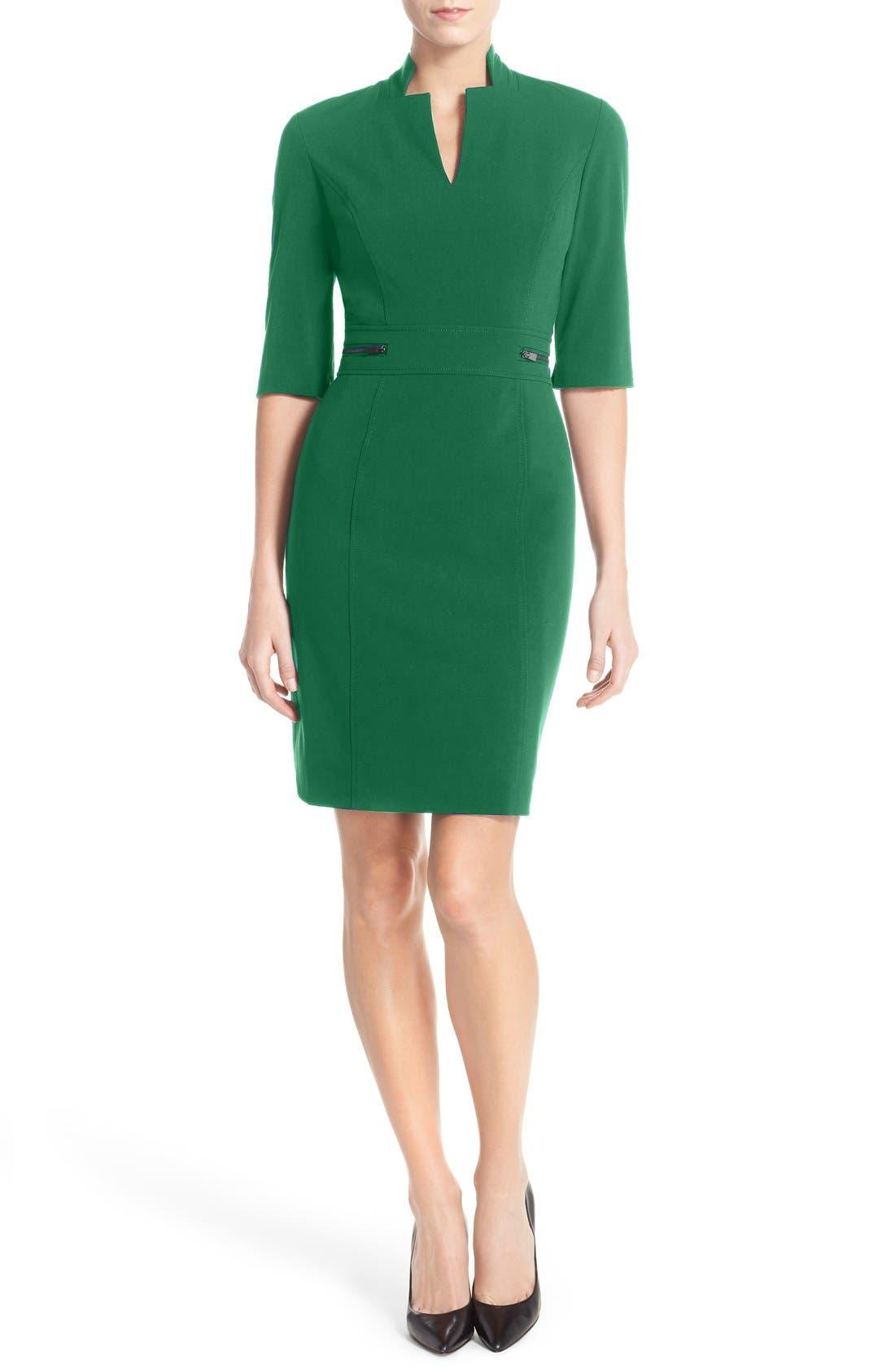 Sheath Dress,                             Alternate thumbnail 6, color,                             COBALT