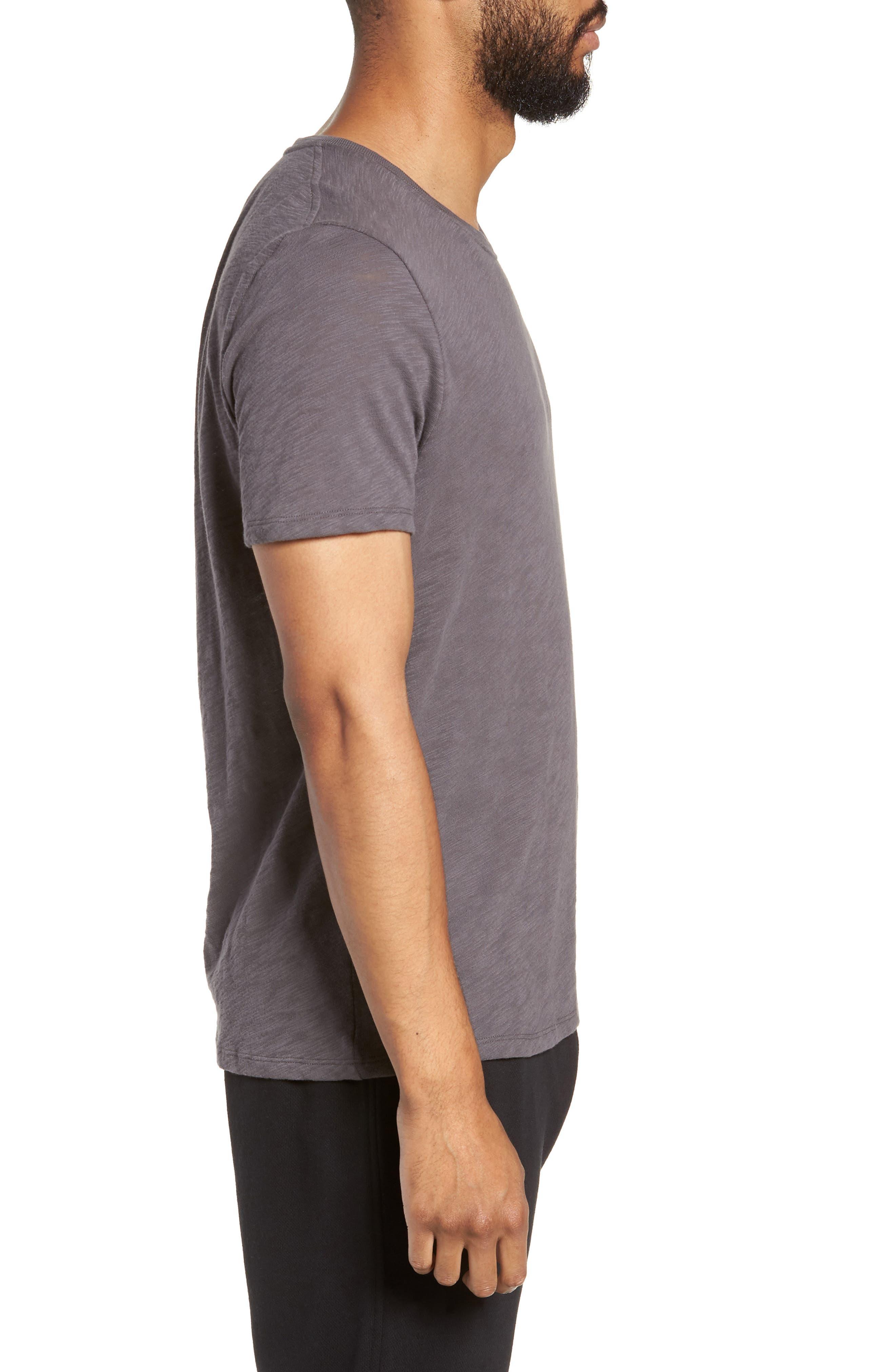 Crewneck T-Shirt,                             Alternate thumbnail 3, color,                             CHARCOAL