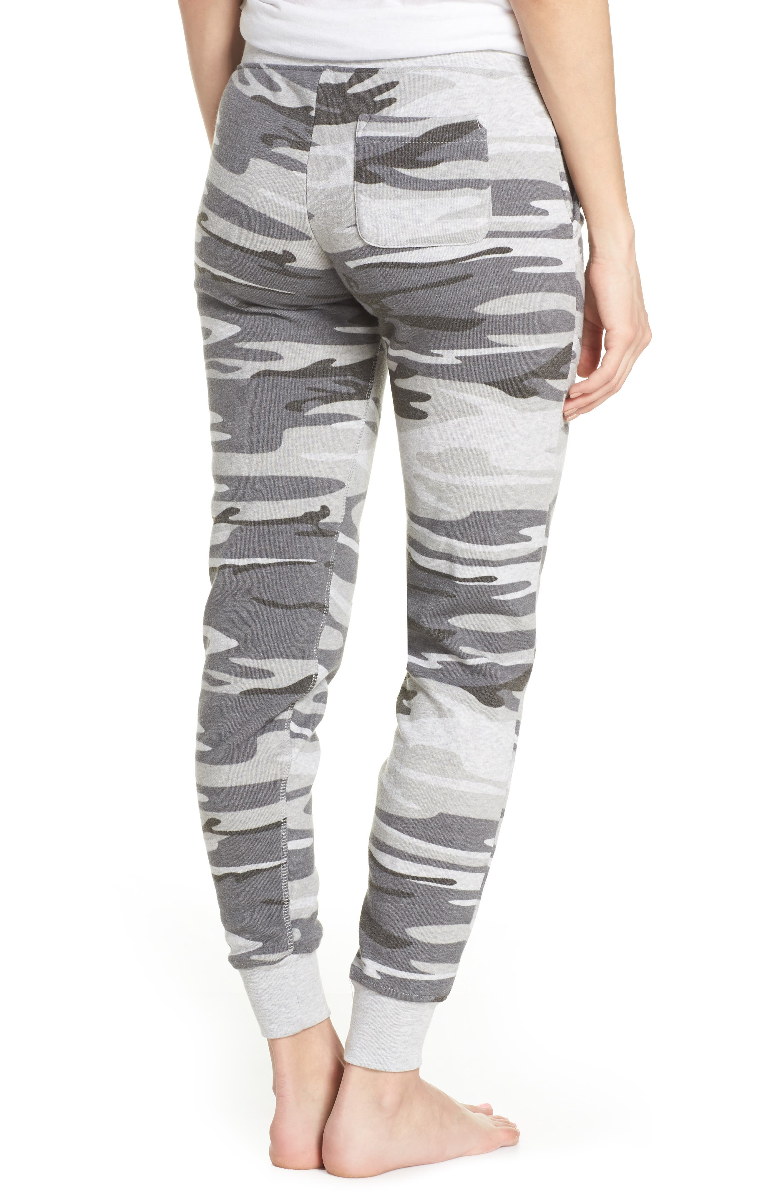 Camo Print Fleece Jogger Pants,                             Alternate thumbnail 2, color,                             035