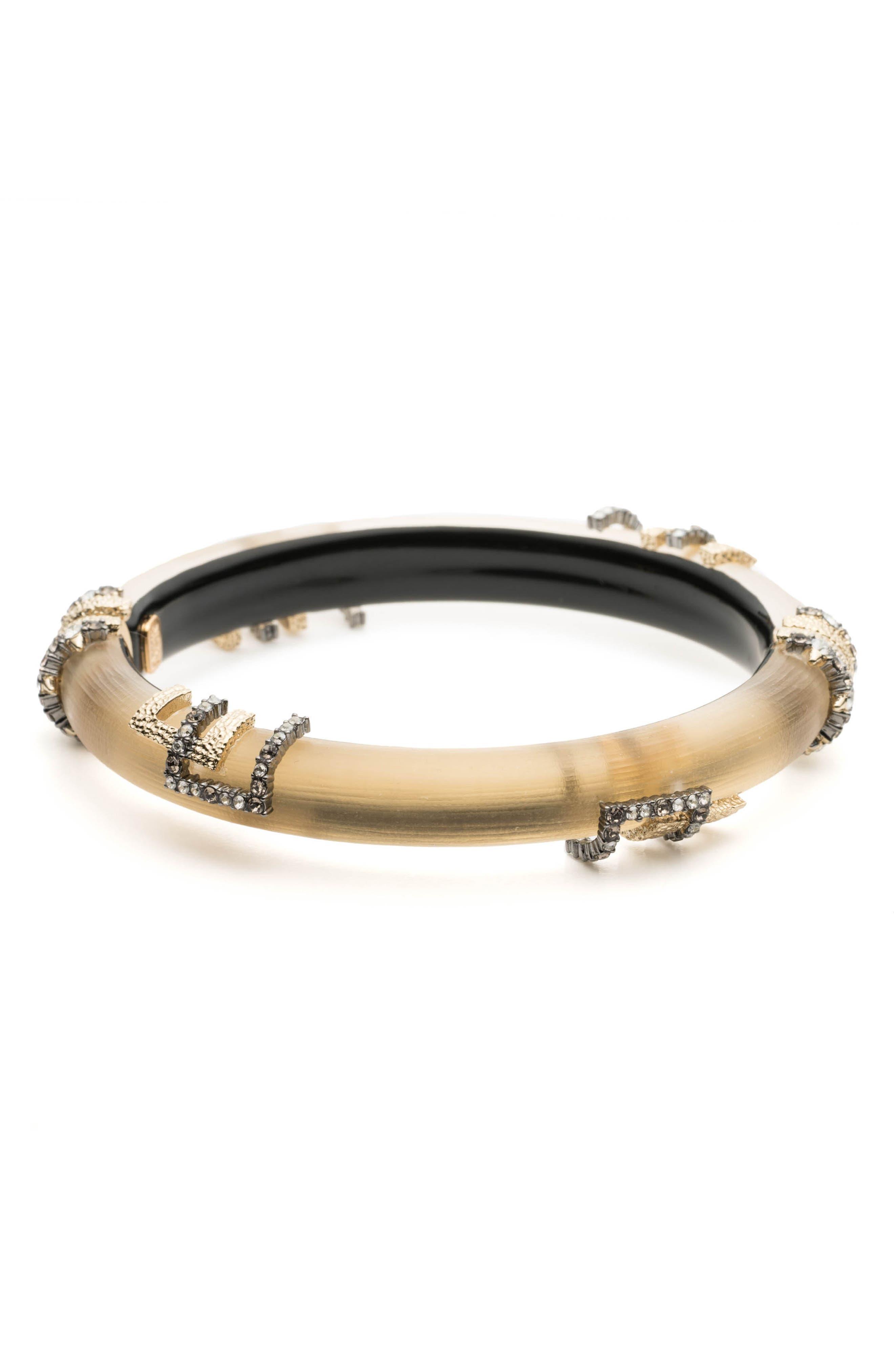 Brutalist Studded Skinny Hinge Bracelet,                             Main thumbnail 1, color,                             GOLD