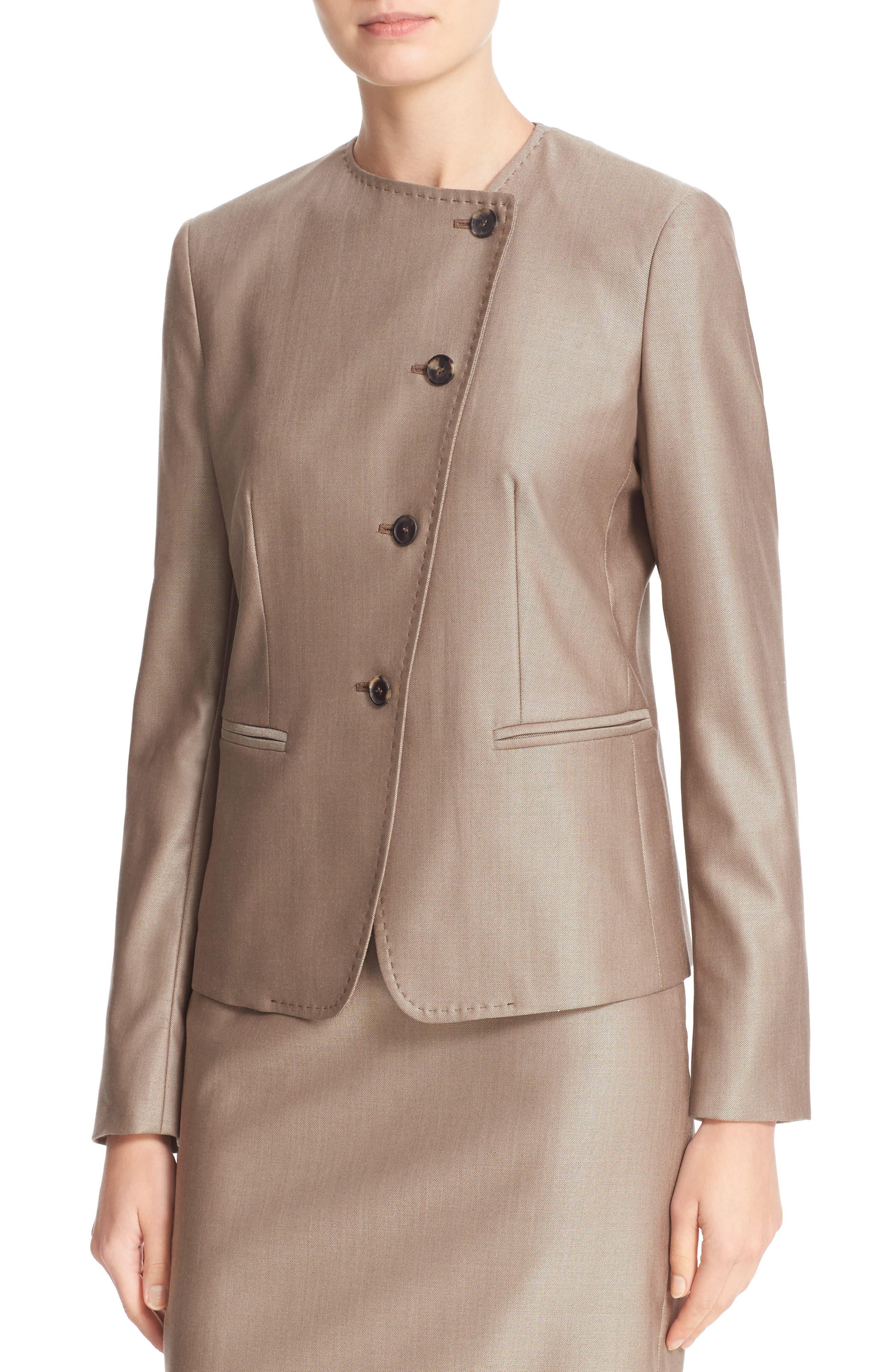 Erba Asymmetrical Jacket,                             Alternate thumbnail 5, color,                             220