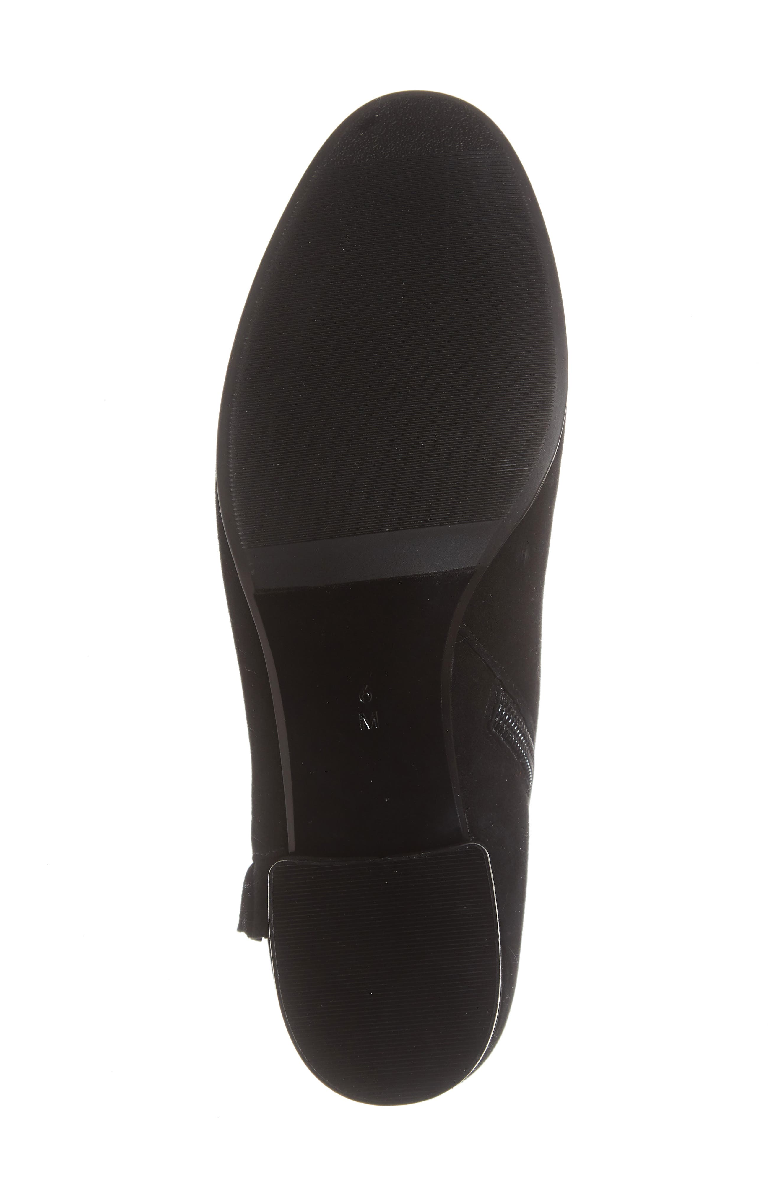 Amoke Bootie,                             Alternate thumbnail 6, color,                             BLACK SUEDE