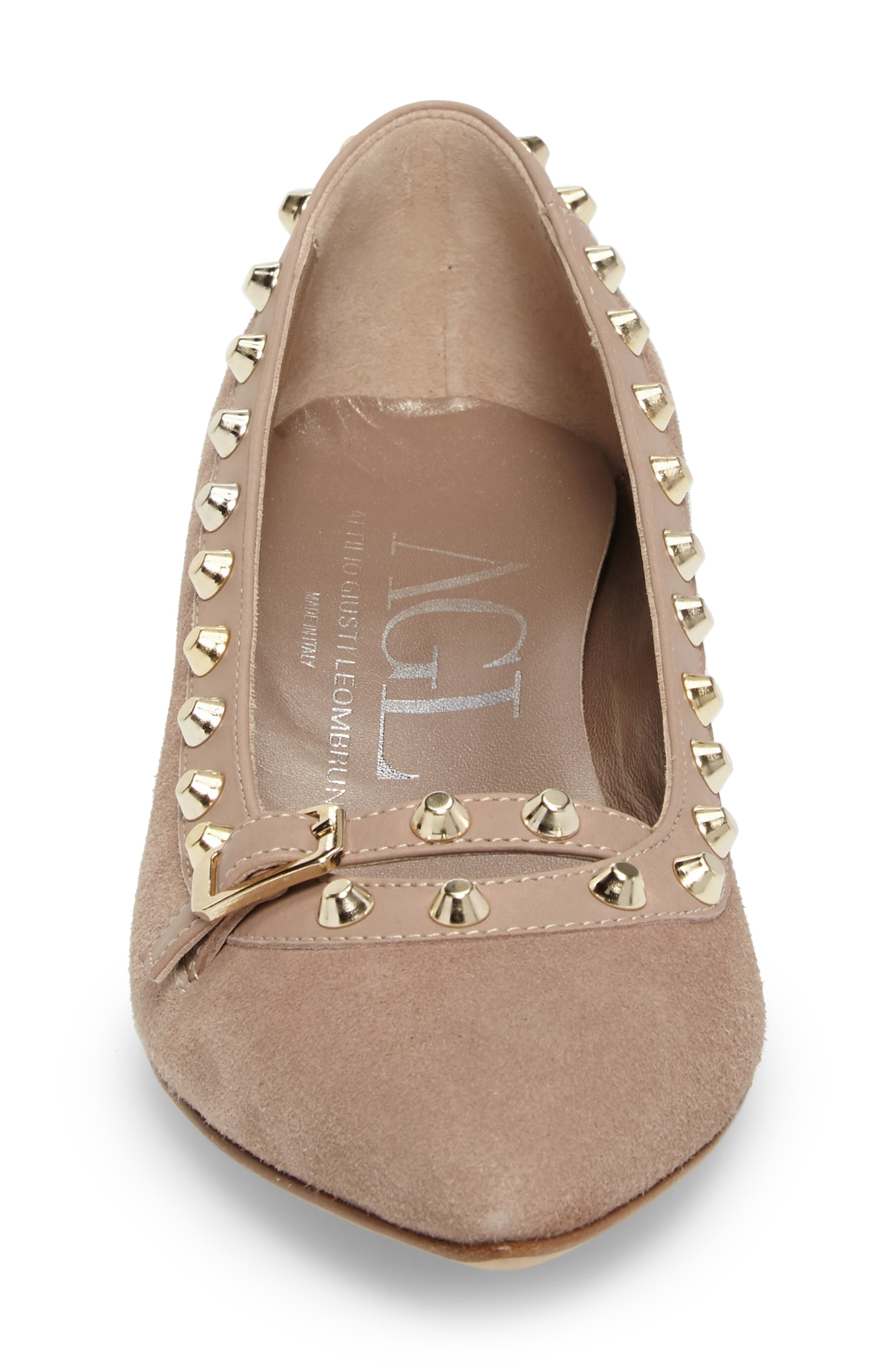 Studded Mary Jane Pump,                             Alternate thumbnail 8, color,