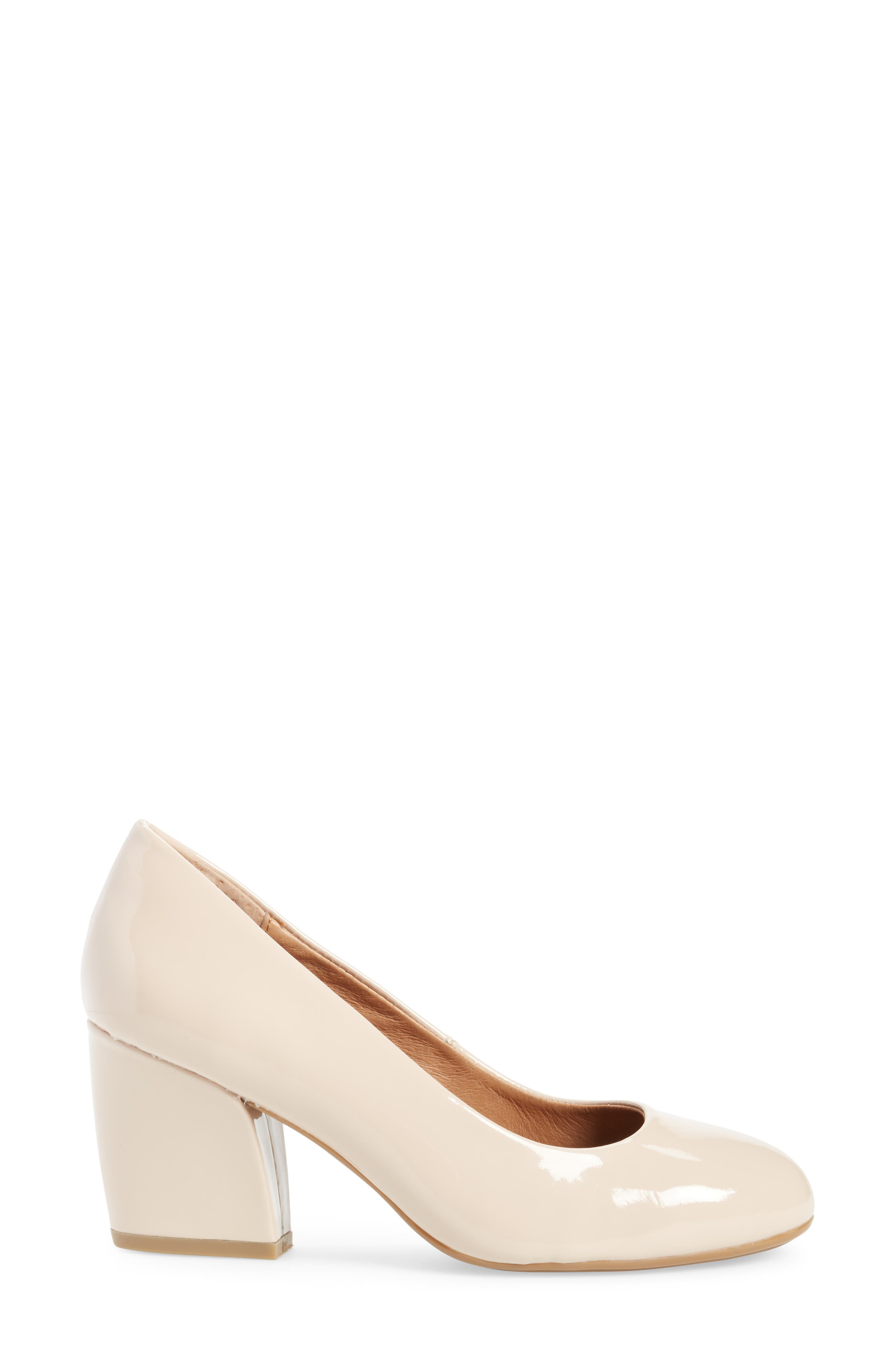 Tamira Pump,                             Alternate thumbnail 3, color,                             NUDE PATENT LEATHER