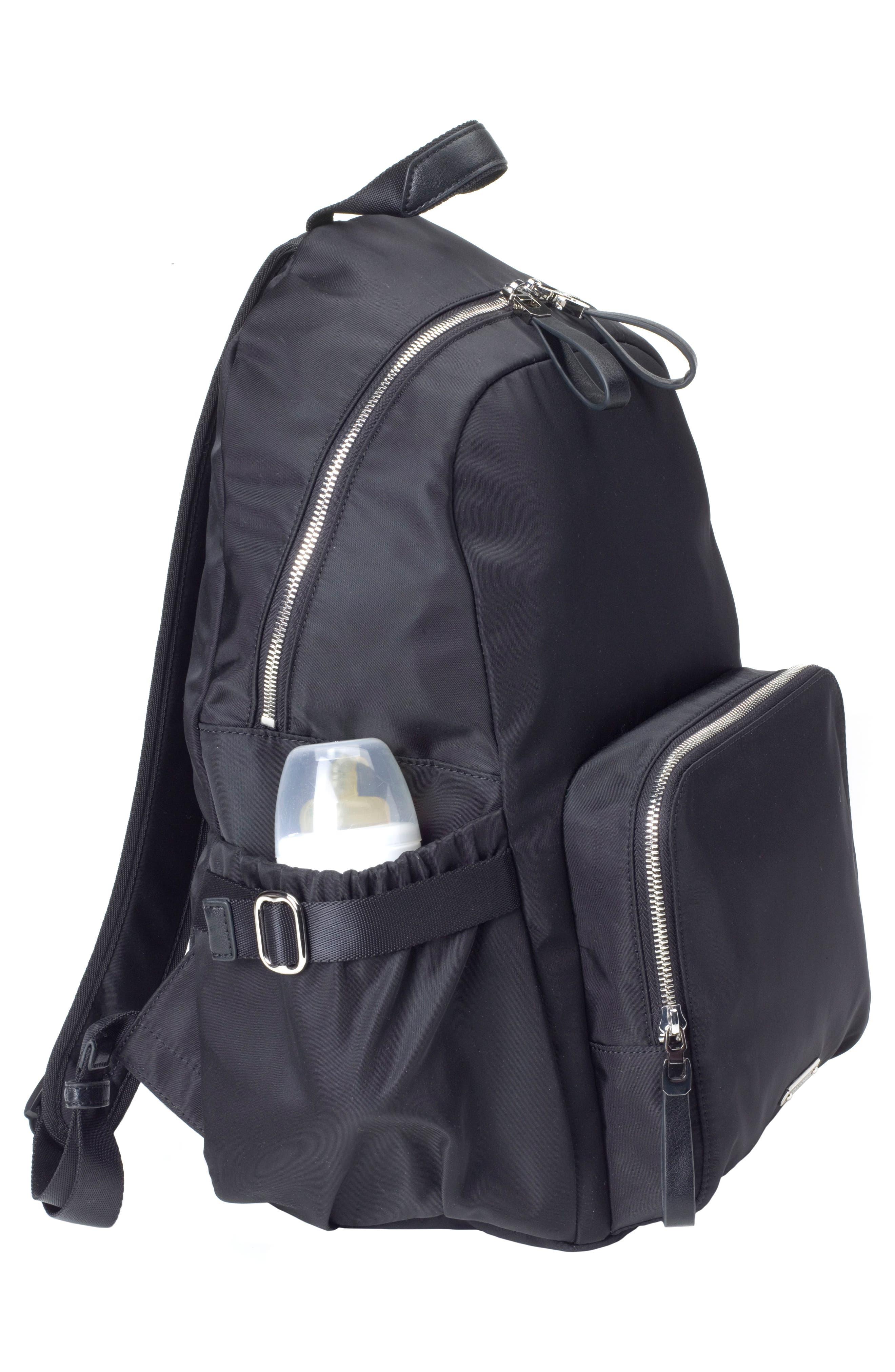 Hero Water Resistant Nylon Backpack Diaper Bag,                             Alternate thumbnail 6, color,                             BLACK