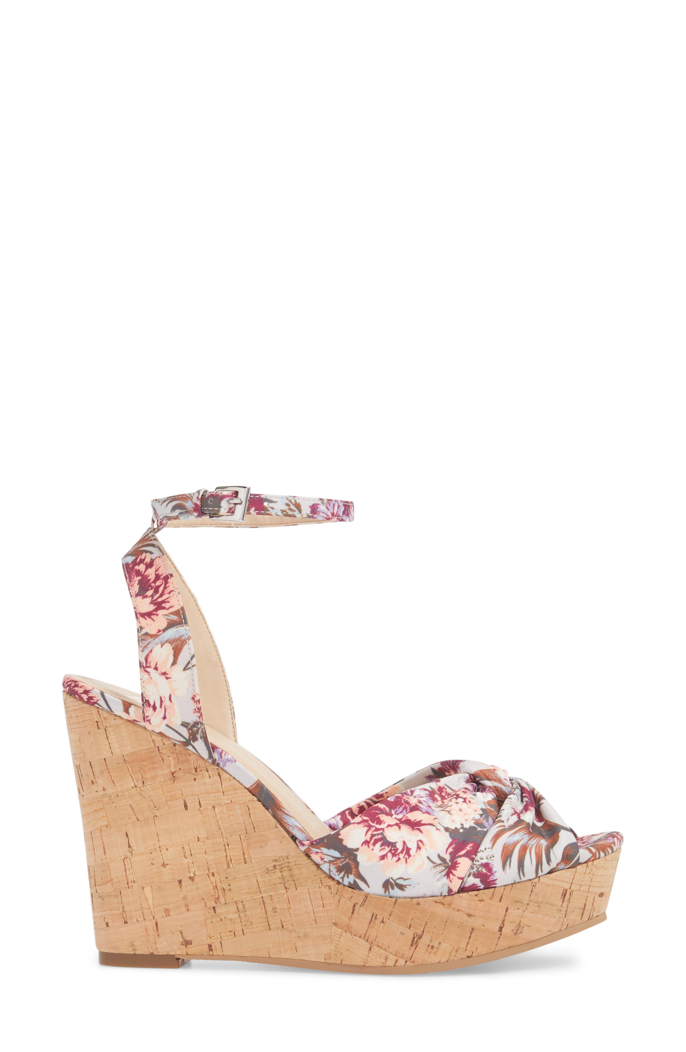 Arya Platform Wedge Sandal,                             Alternate thumbnail 3, color,                             000