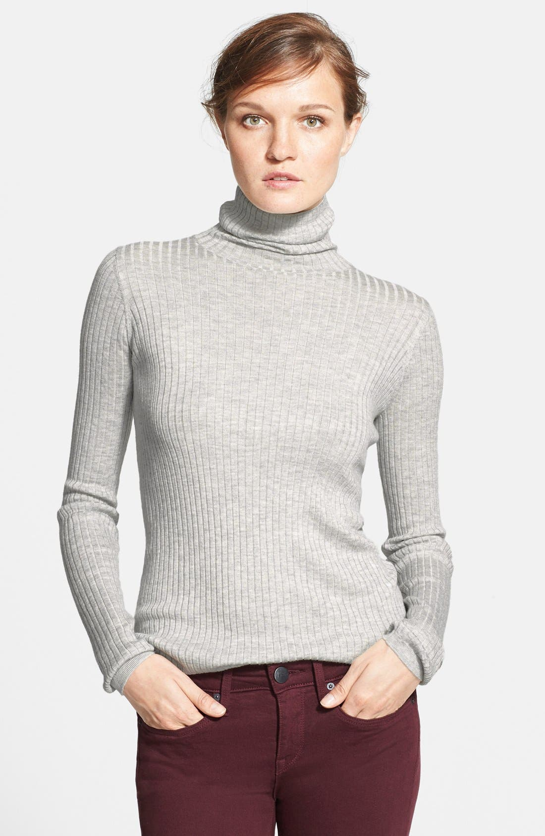 Ribbed Turtleneck Sweater,                             Main thumbnail 1, color,                             045