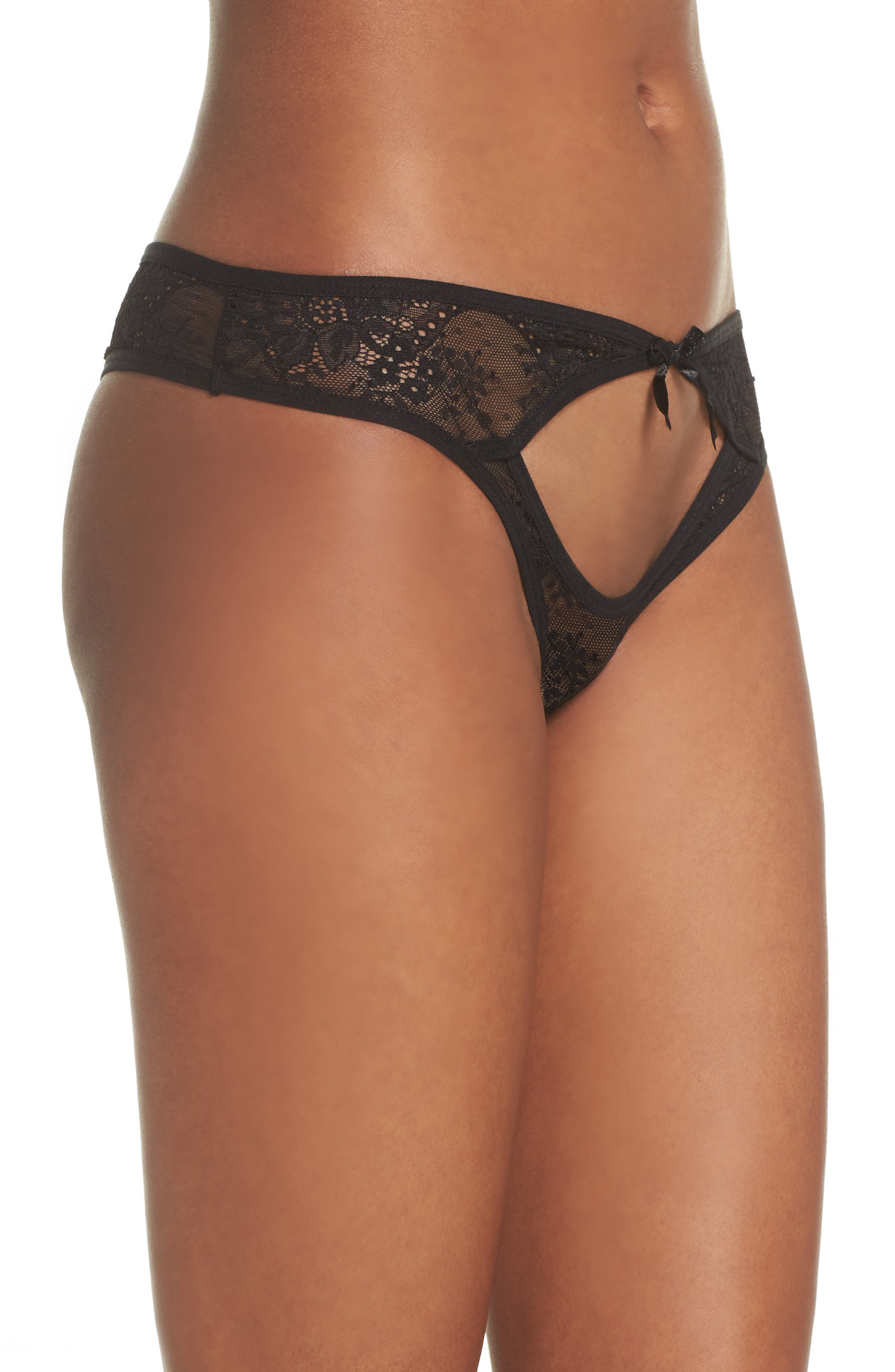 Barcelona Lace Cheeky Panties,                             Alternate thumbnail 3, color,